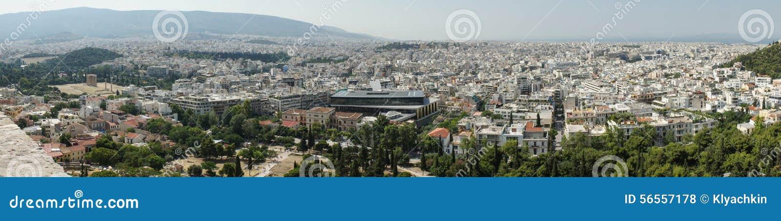 Download πανόραμα της Αθήνας εκδοτική στοκ εικόνες. εικόνα από εμφανίζει - 56557178