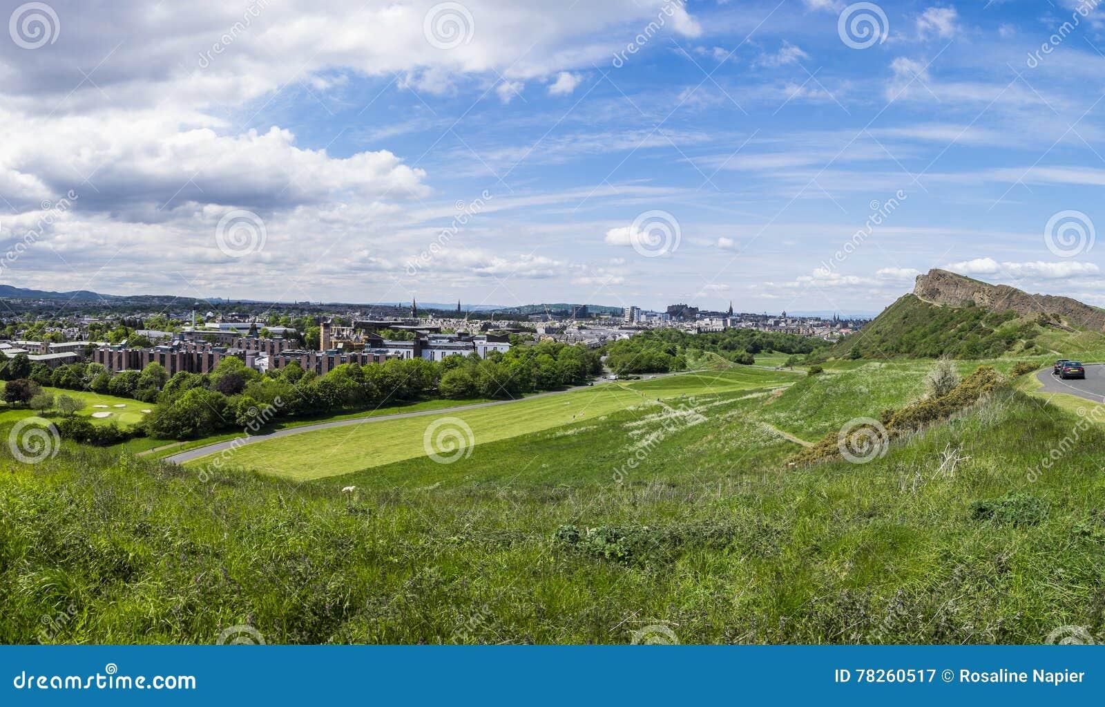 Πανόραμα του Εδιμβούργου από το πάρκο Holyrood