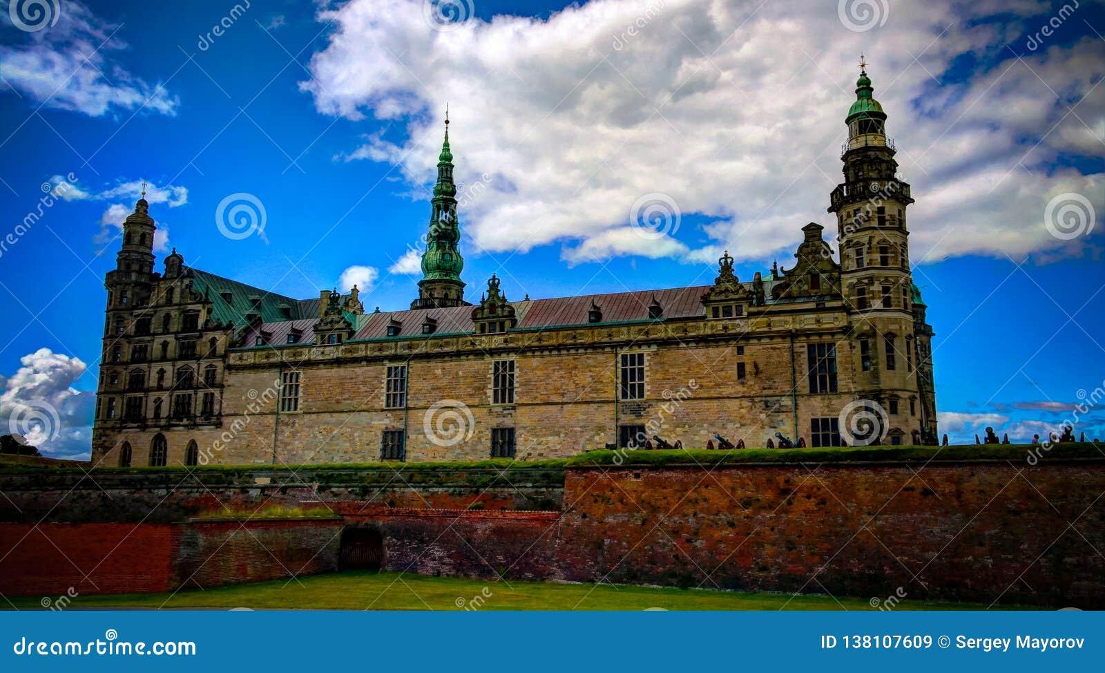 Πανόραμα του κάστρου Kronborg Helsingor, Δανία
