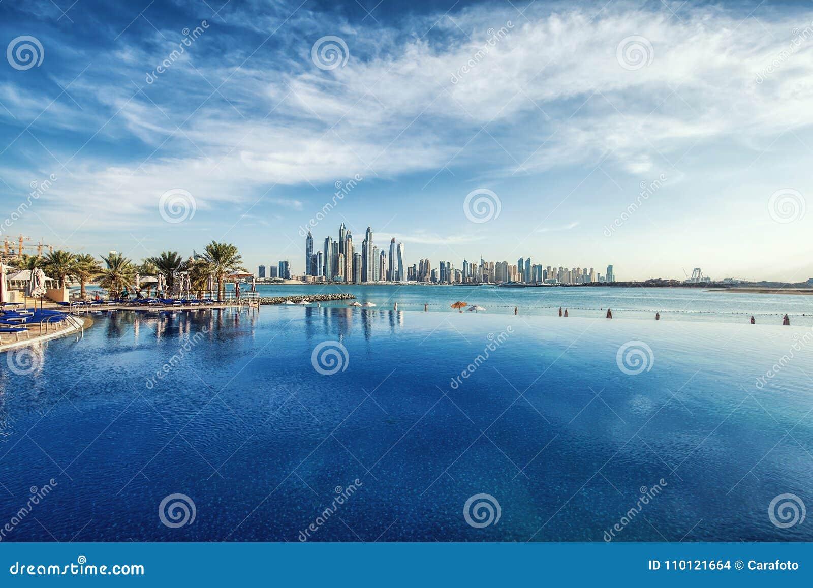 Πανόραμα του ορίζοντα μαρινών του Ντουμπάι, Ηνωμένα Αραβικά Εμιράτα