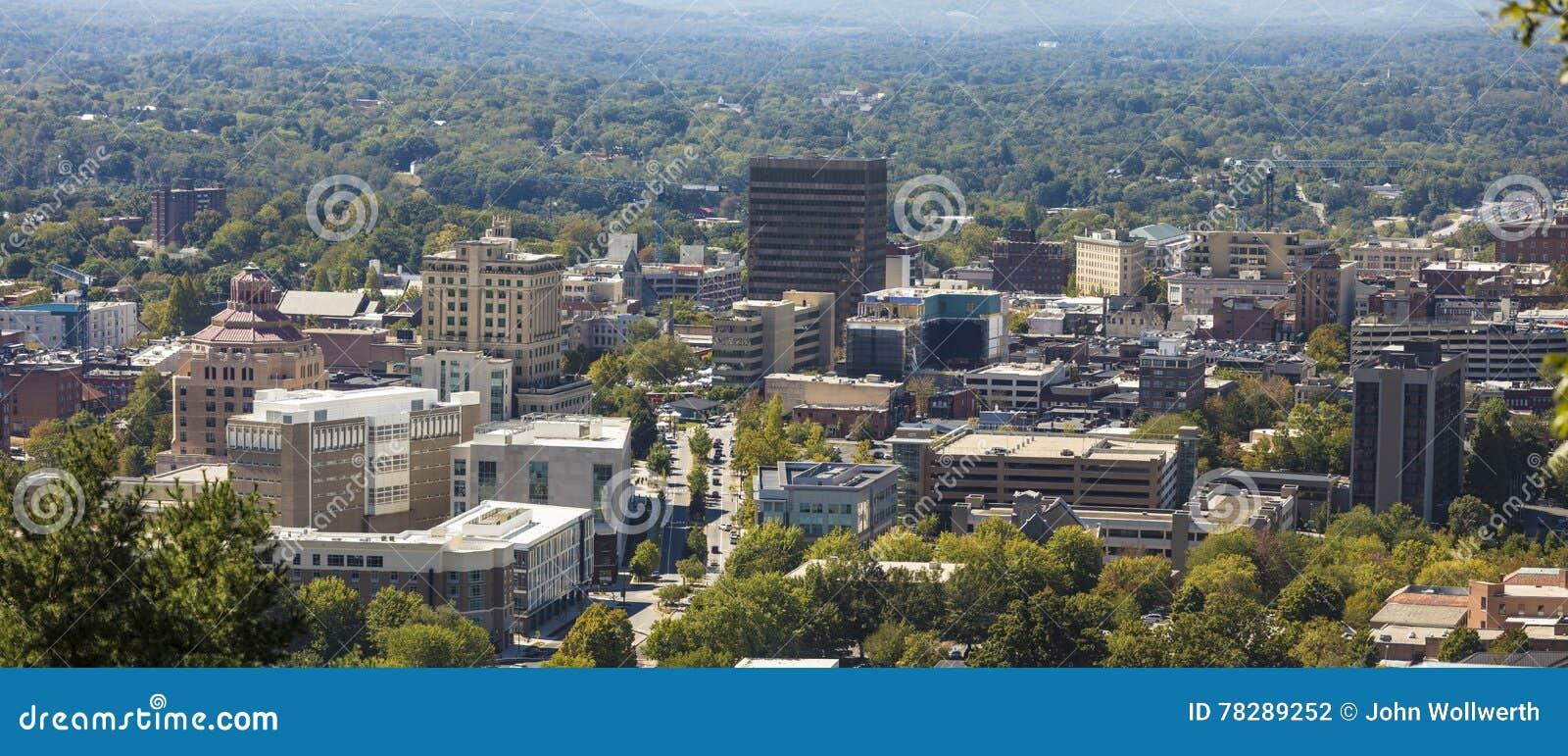Πανόραμα του στο κέντρο της πόλης Άσβιλλ, βόρεια Καρολίνα