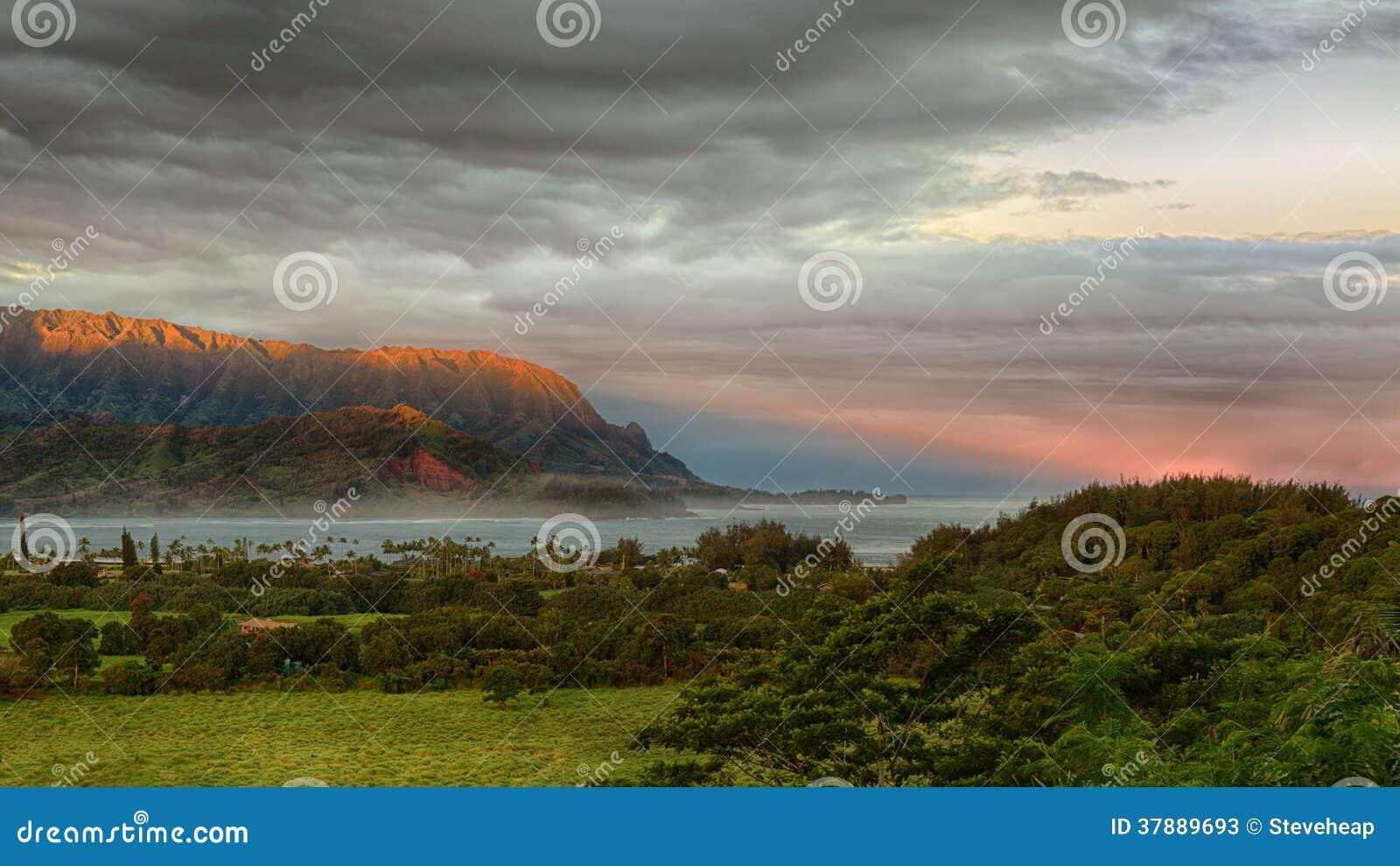 Πανόραμα Hanalei στο νησί Kauai