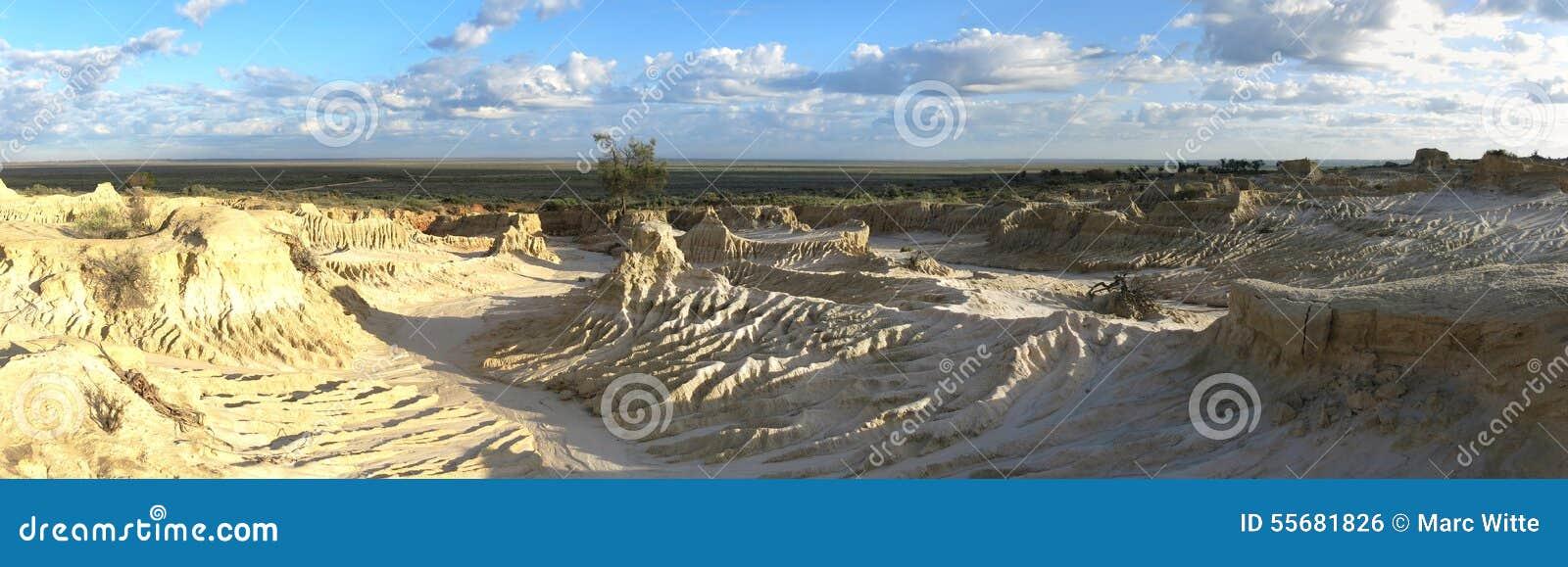 Πανόραμα - Mungo εθνικό πάρκο, NSW, Αυστραλία