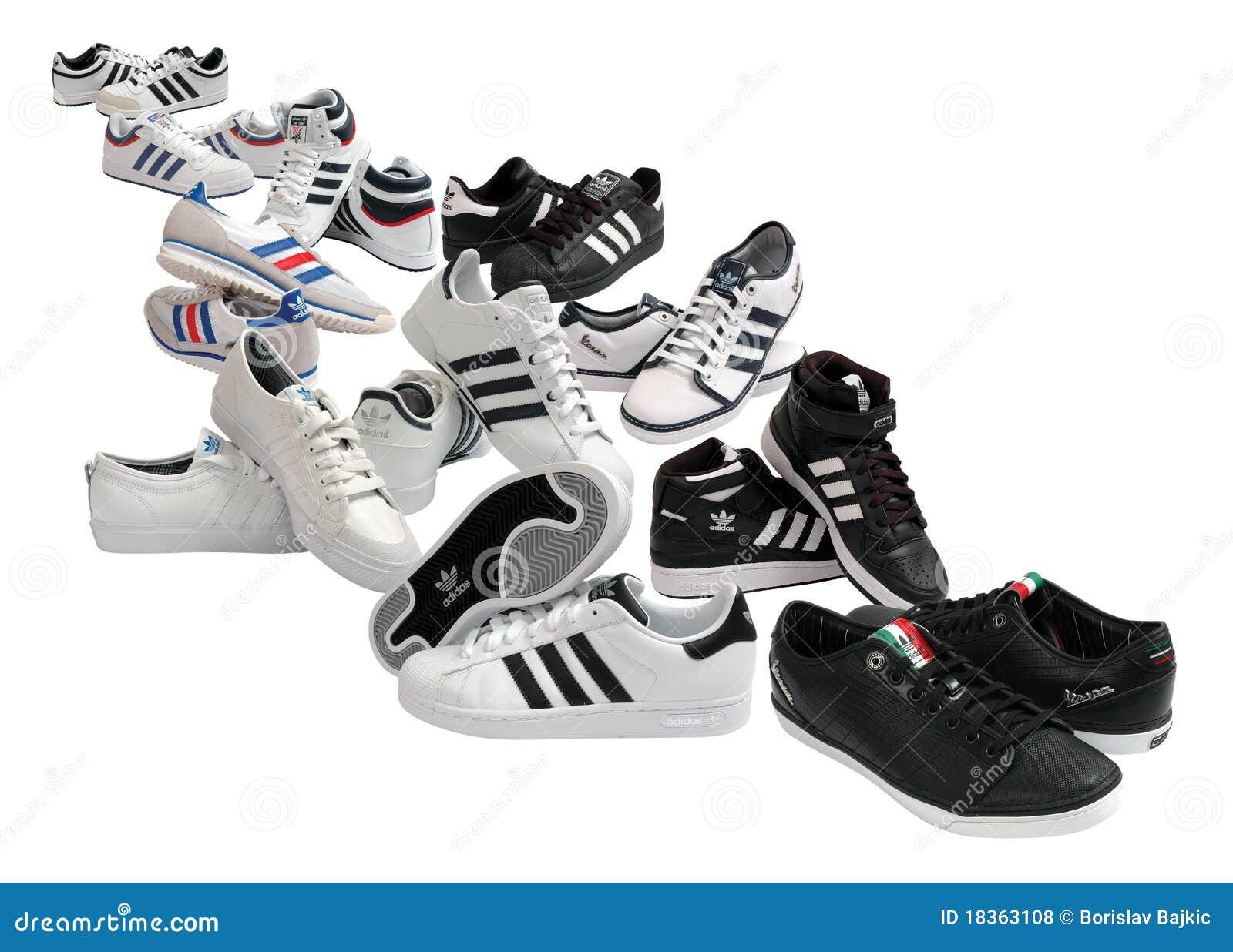 ba4dde18b9f παπούτσια adidas εκδοτική στοκ εικόνες. εικόνα από άσπρος - 18363108