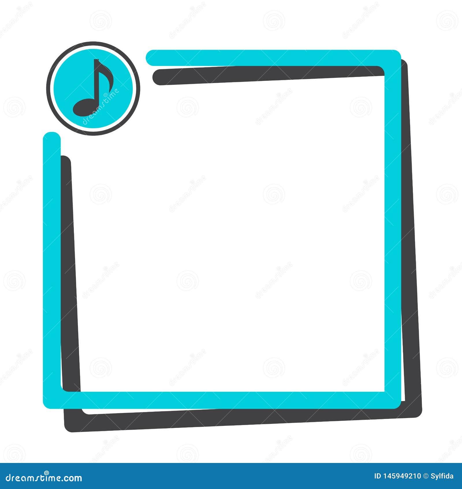 Παράθυρο κειμένου με το κουμπί του εικονιδίου μουσικής r