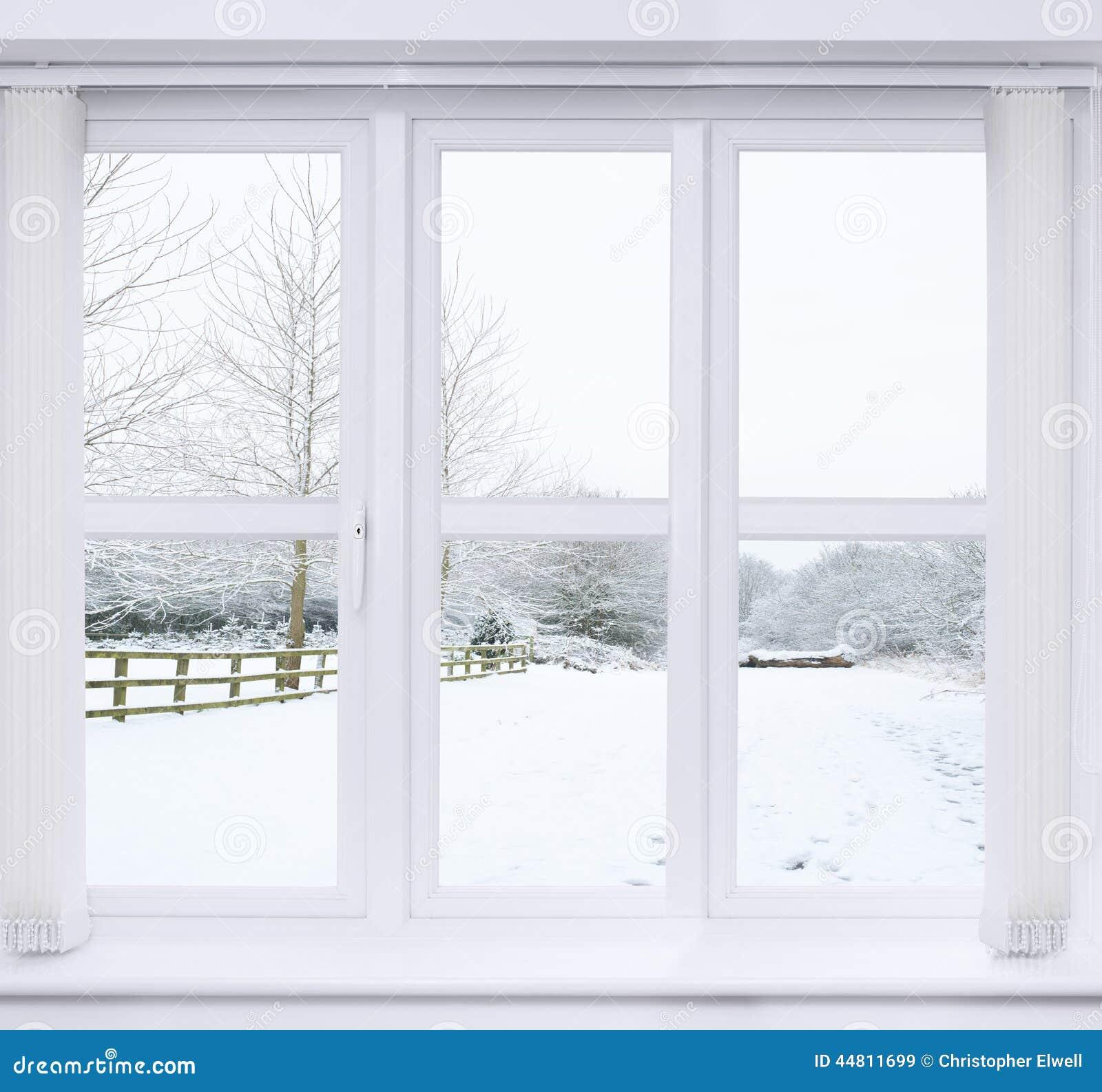 Παράθυρο σκηνής χιονιού