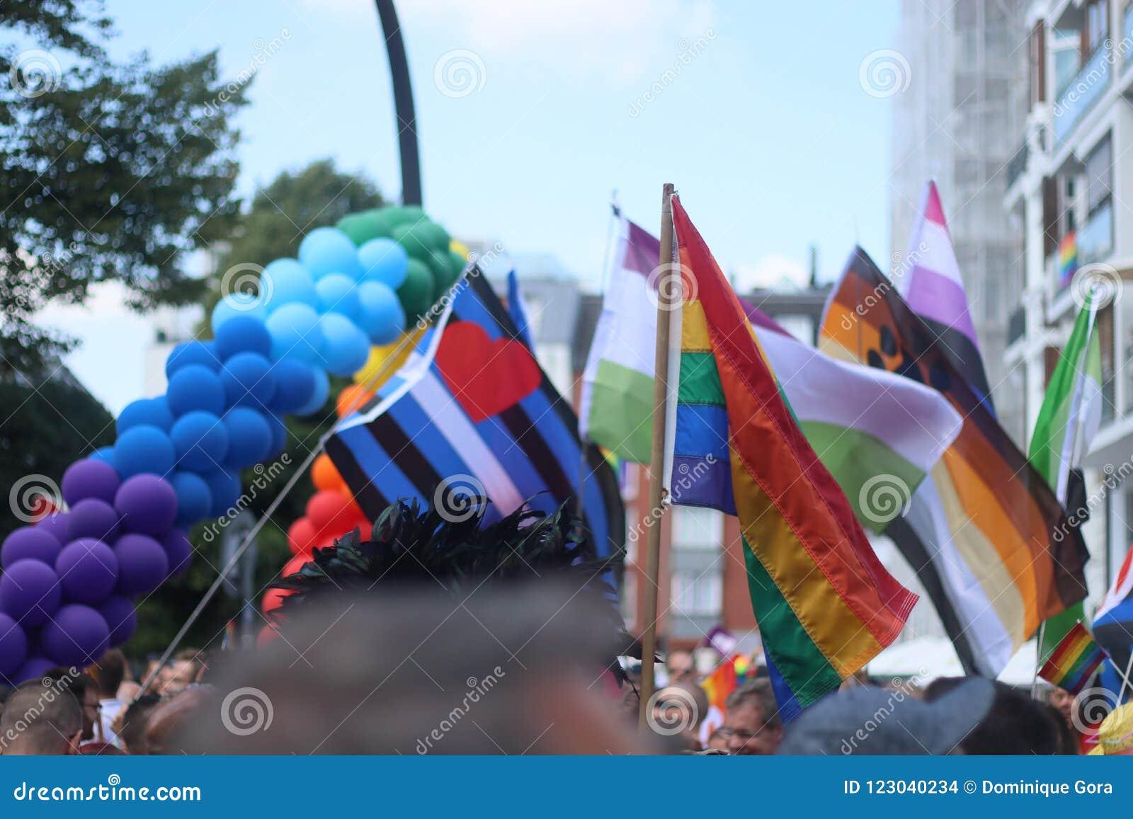 Παρέλαση 2018 επίδειξη του Αμβούργο, Γερμανία LGBTIQ της CSD