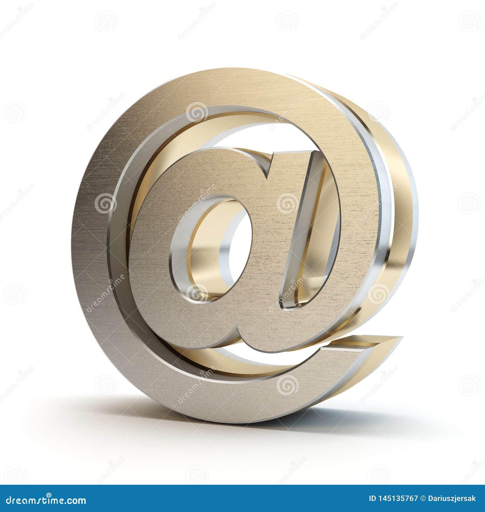 Σύμβολο ηλεκτρονικού ταχυδρομείου τρισδιάστατο