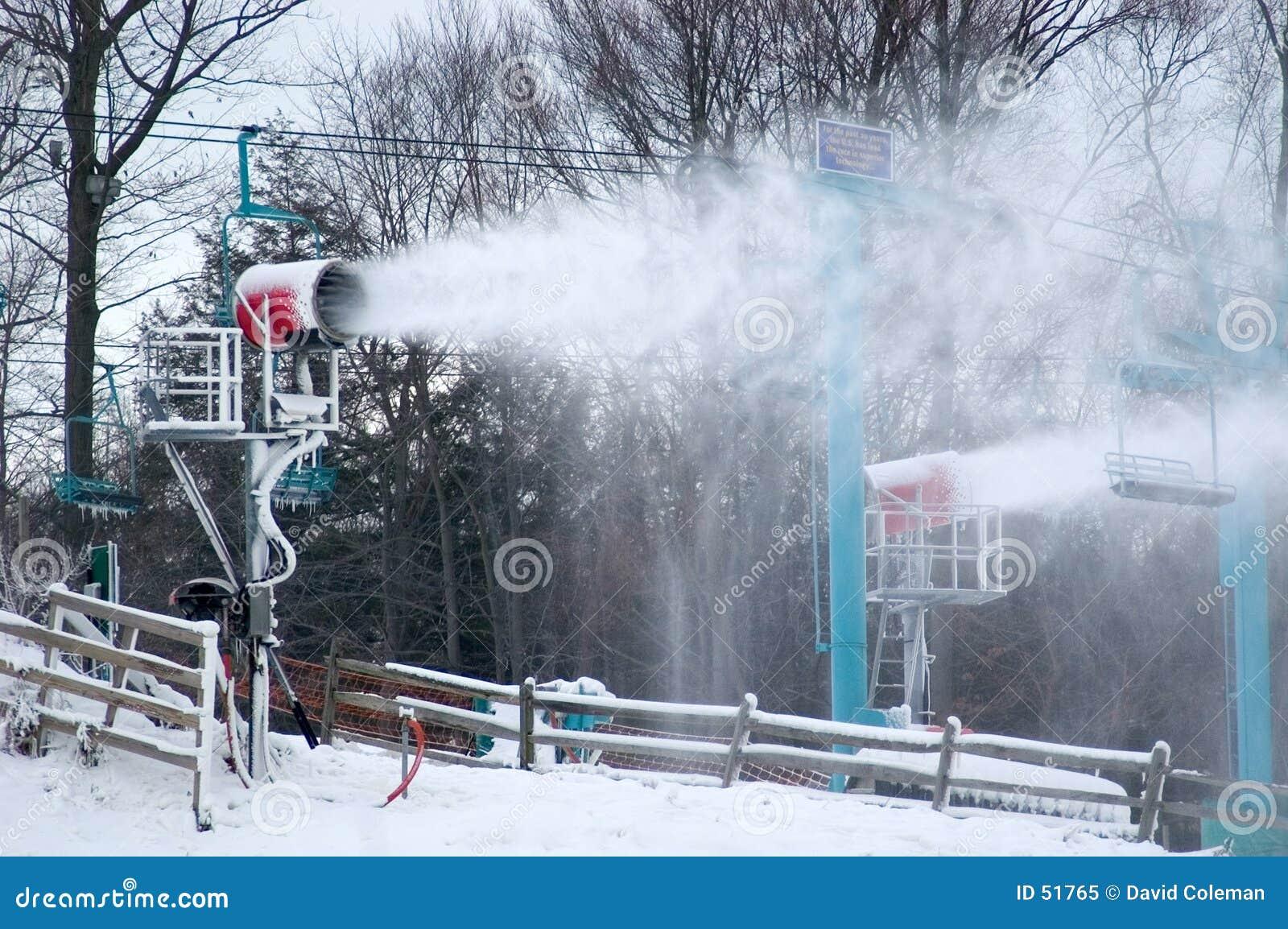 παραγωγή του χιονιού