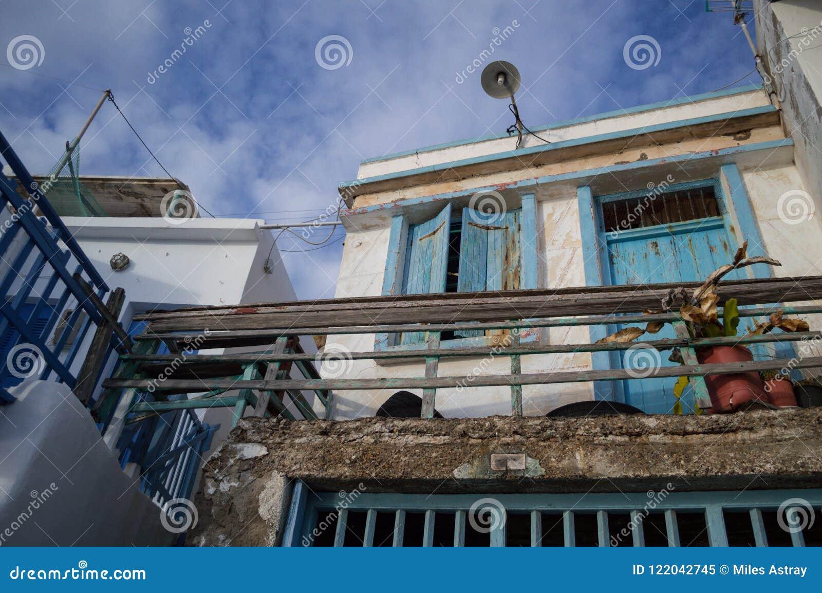 Παραδοσιακά ελληνικά σπίτια ψαροχώρι σε Klima, Μήλος, Cyclad