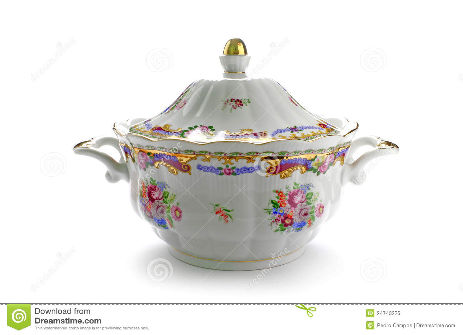 παραδοσιακή σουπιέρα πορσελάνης
