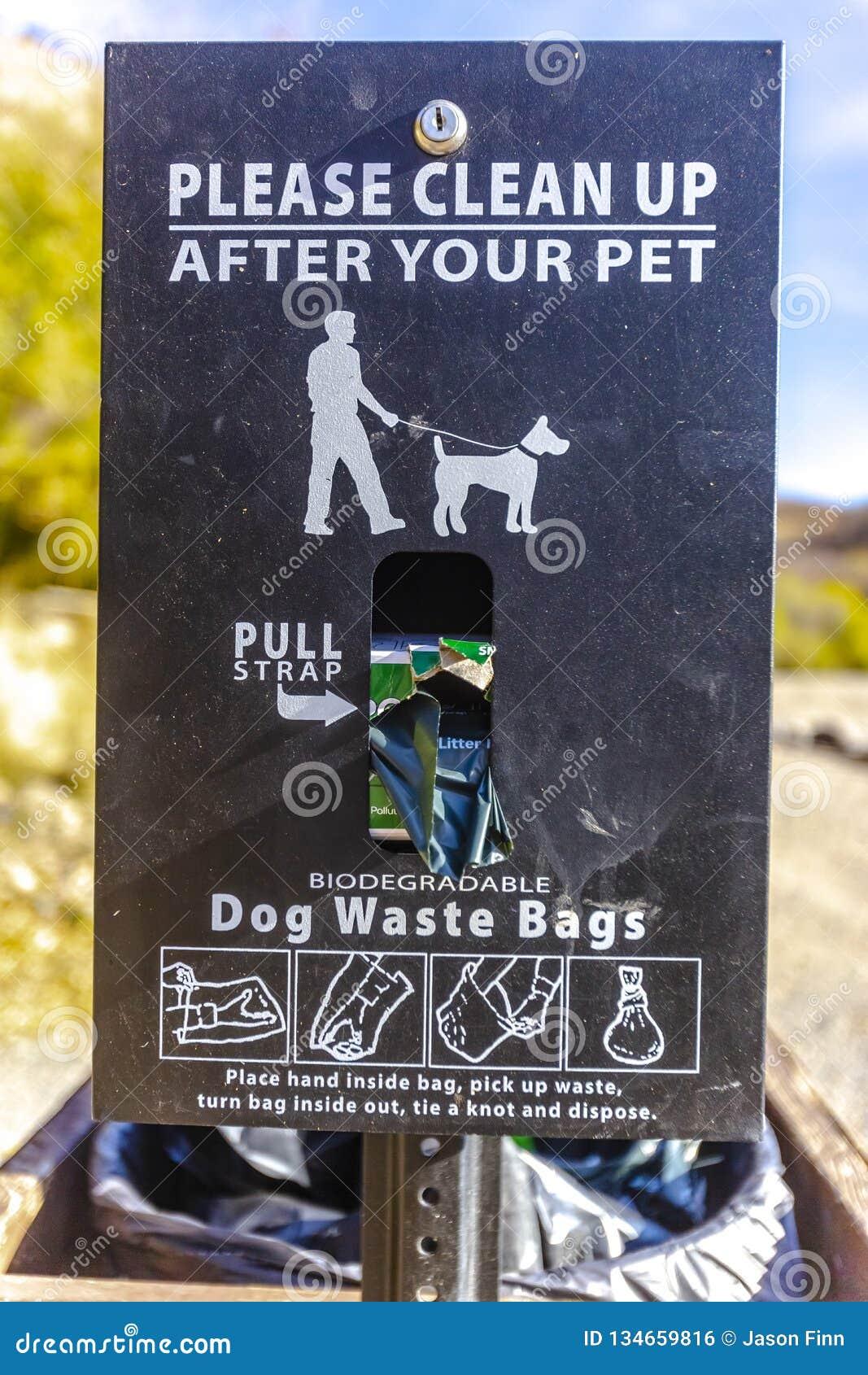 Παρακαλώ καθαρίστε μετά από το σημάδι κατοικίδιων ζώων σας με τις τσάντες
