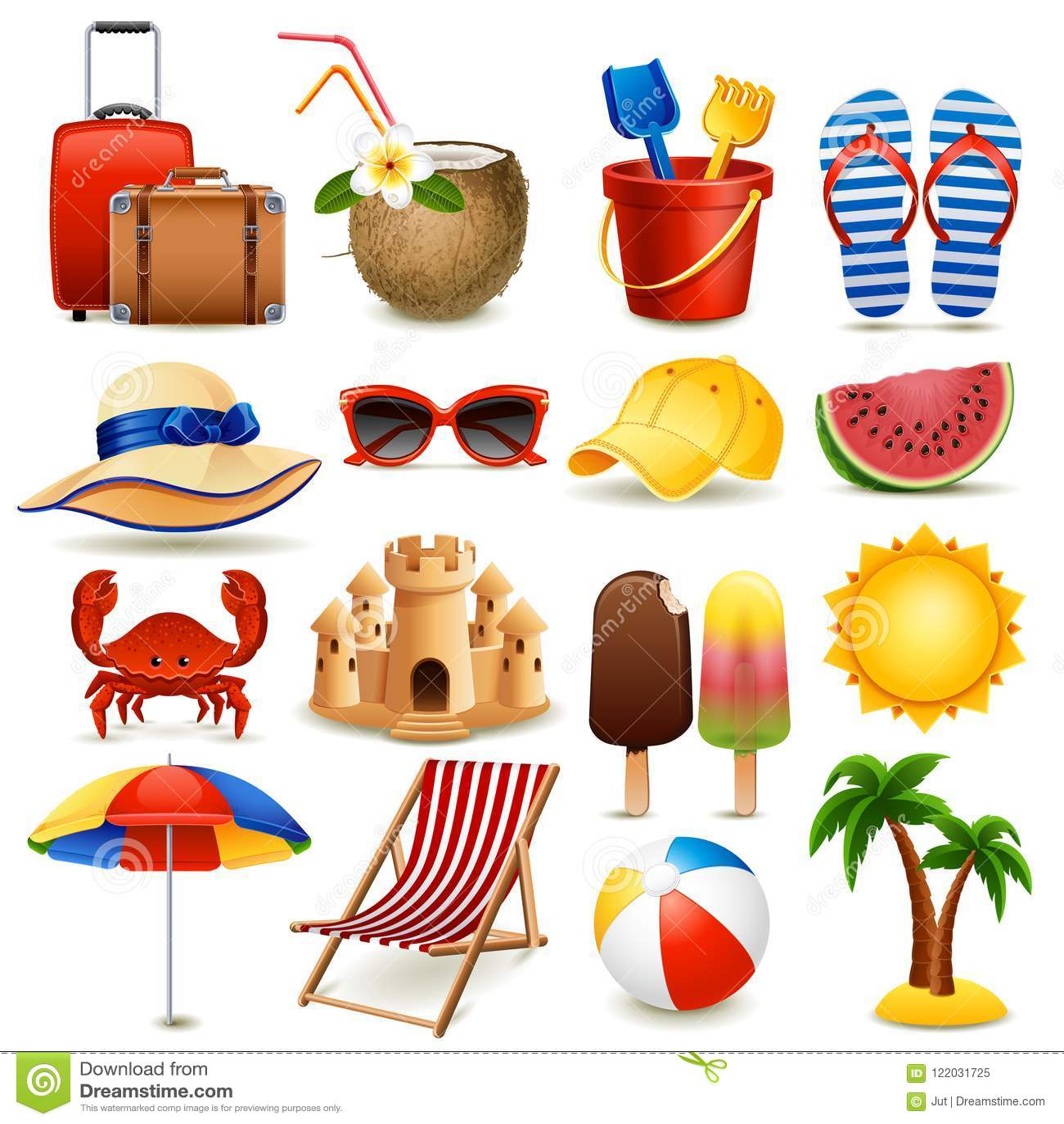 παραλία κάθε χωρισμένο στρώμα καθορισμένο διάνυσμα εικονιδίων