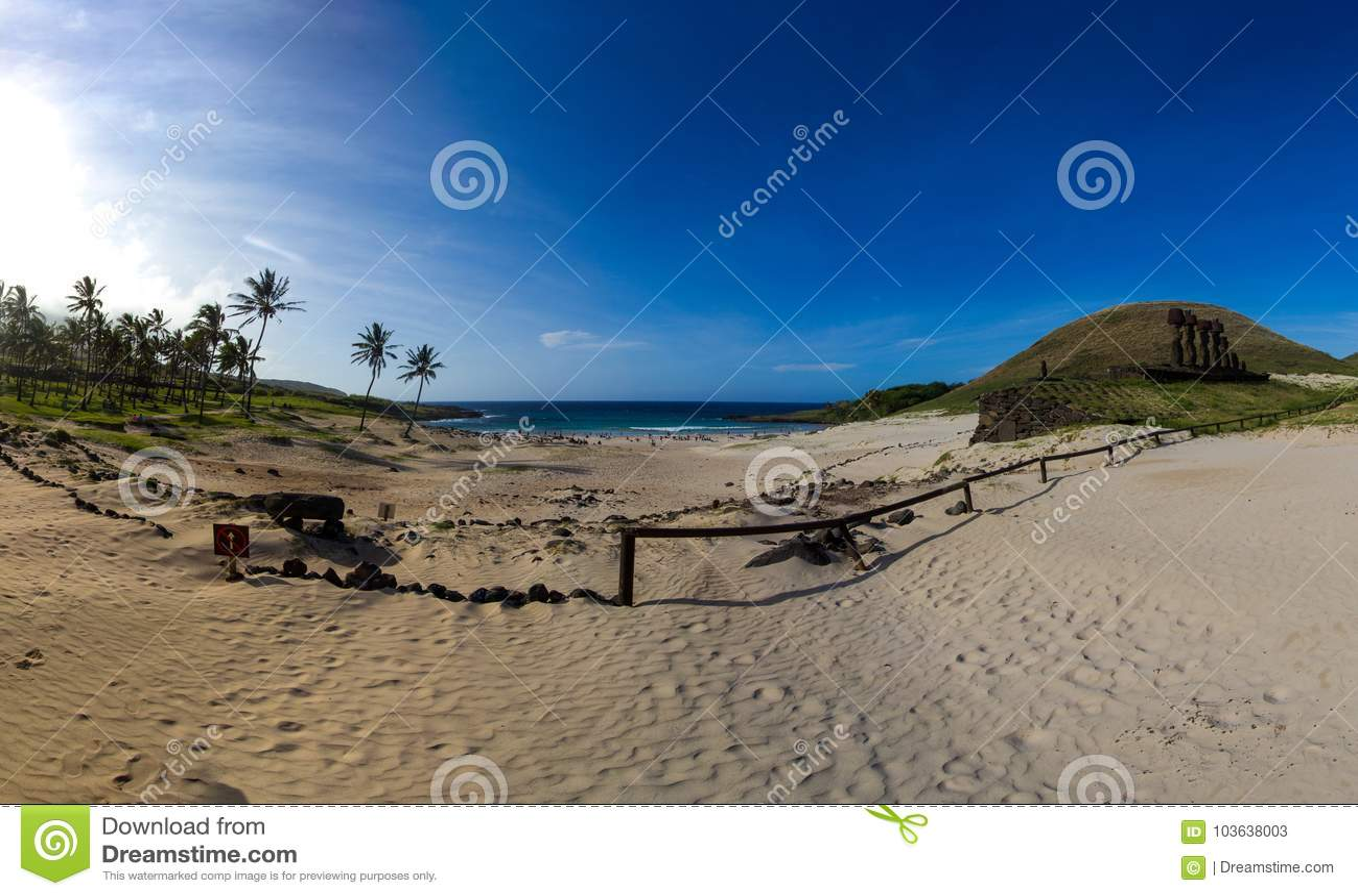 Παραλία Anakena - νησί Πάσχας, Χιλή