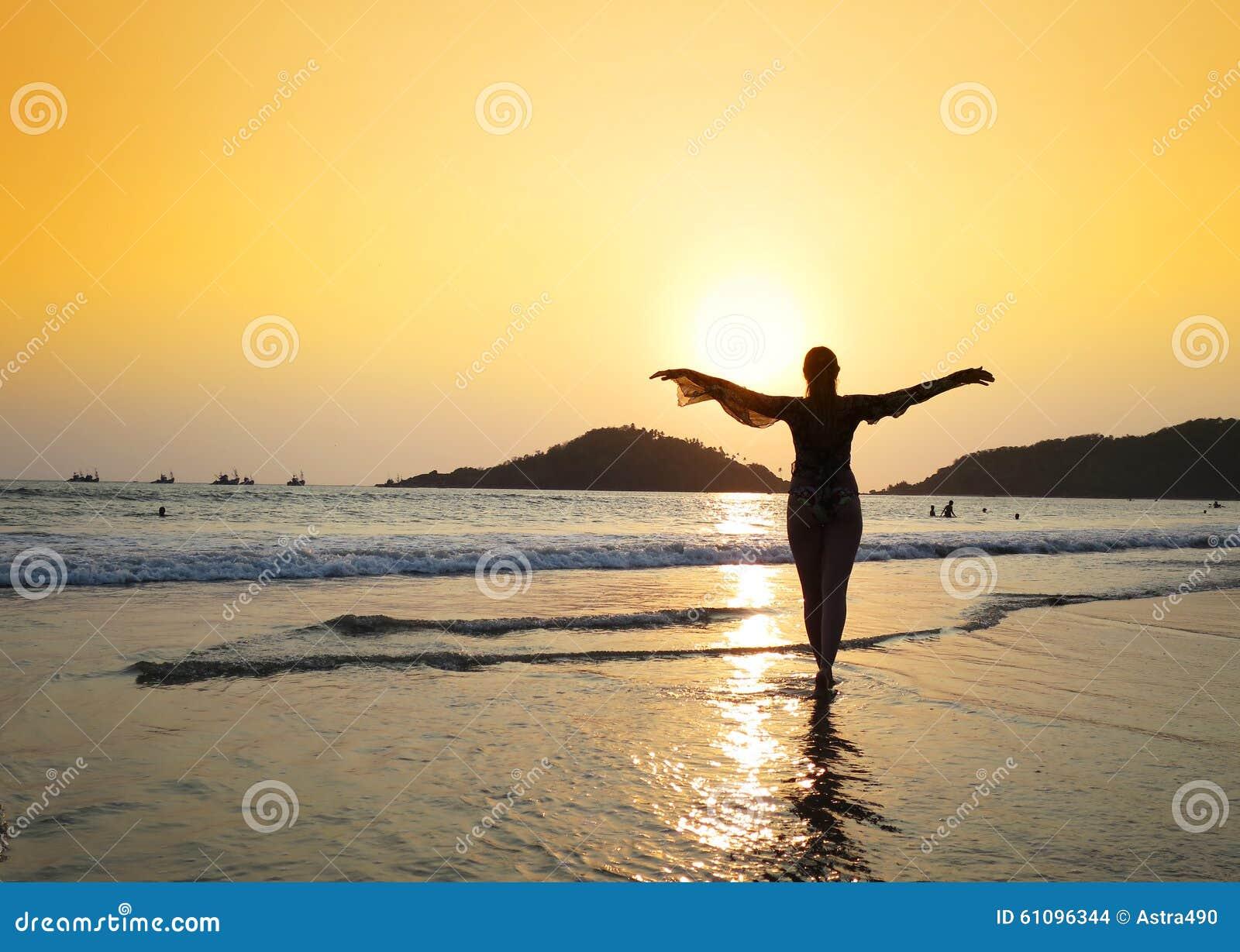 Παραλία Agonda Νότος Goa, Ινδία