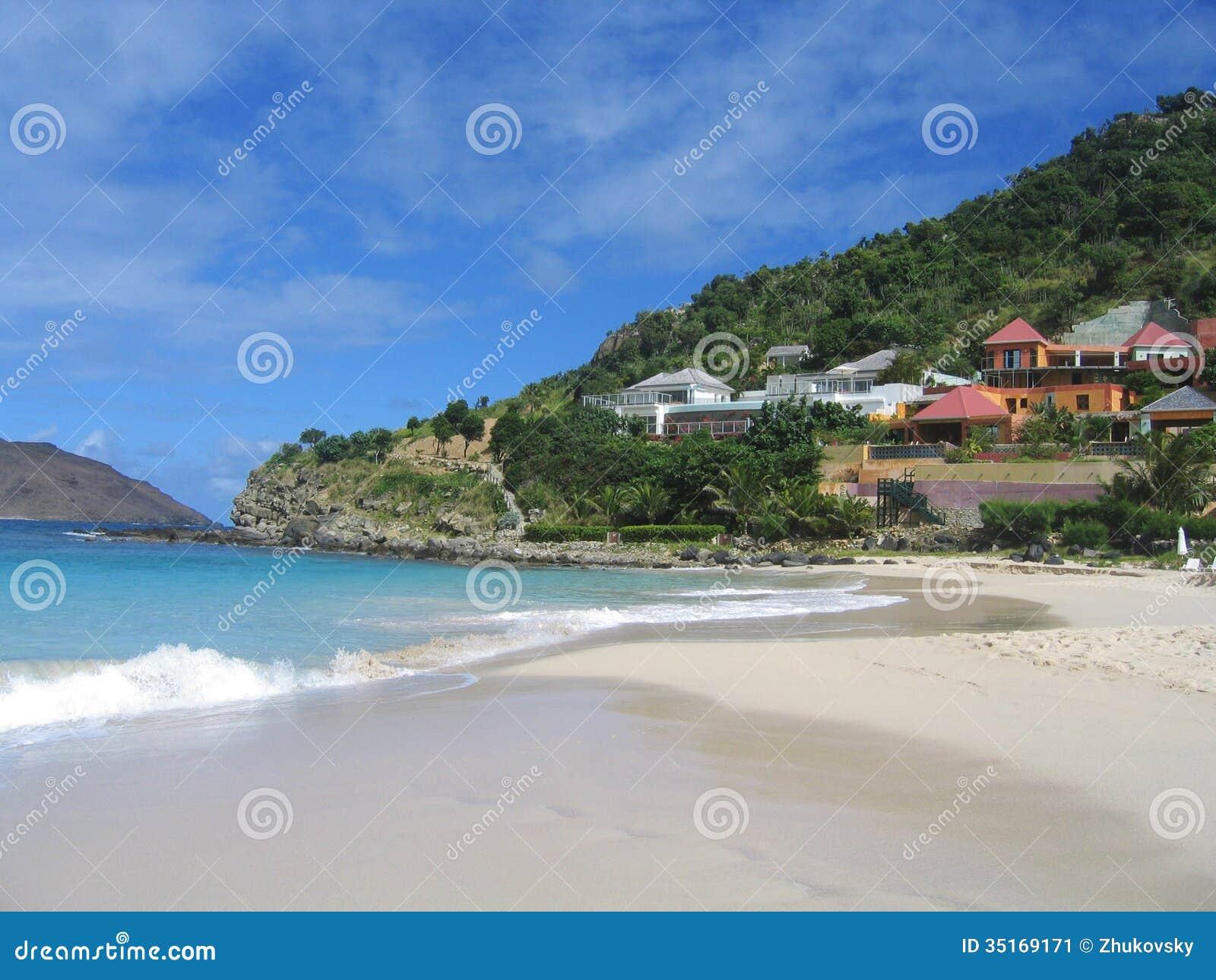 Παραλία Flamands, ψαρονέτη του ST, γαλλικές Δυτικές Ινδίες