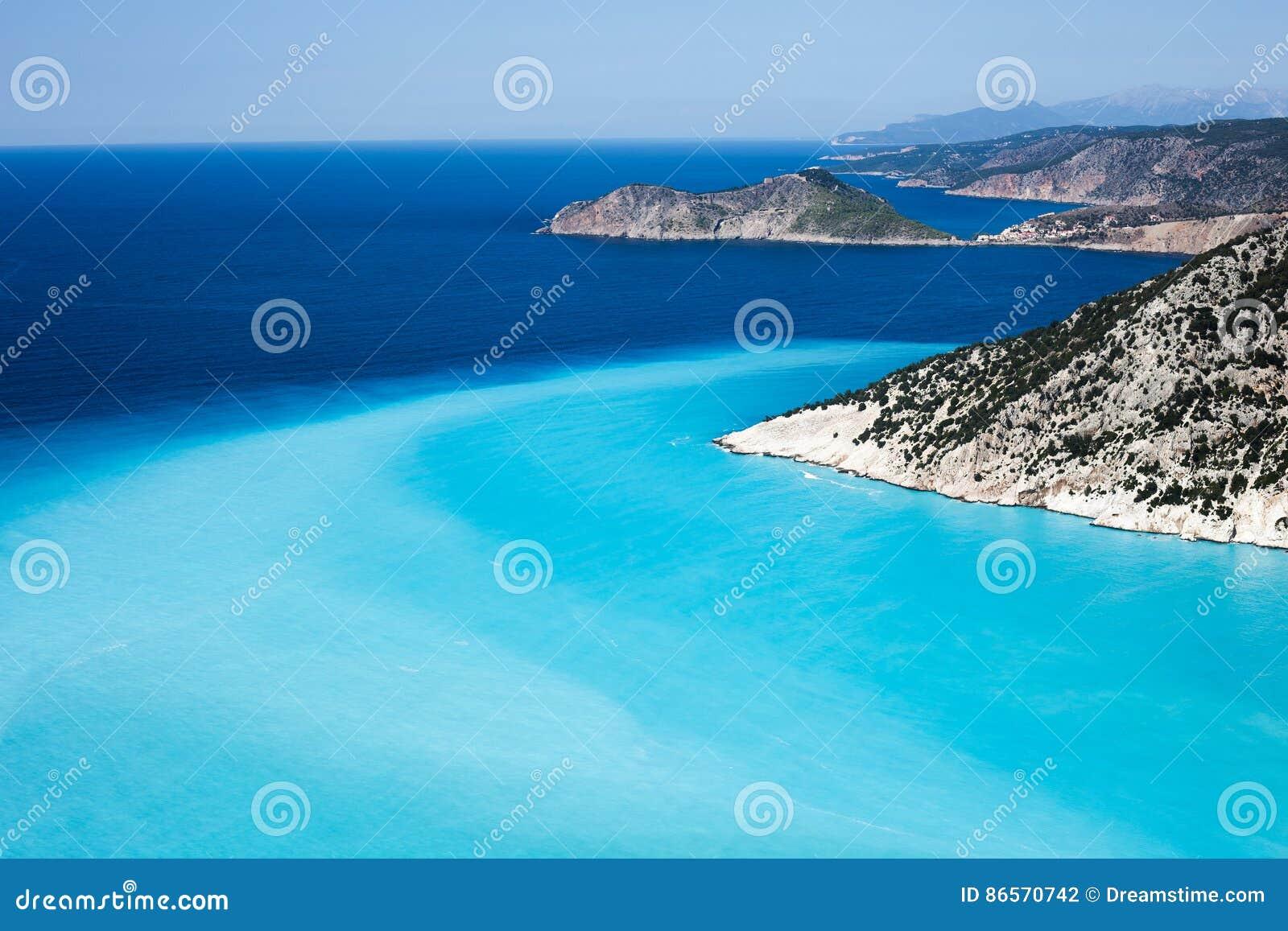 Παραλία Myrtos, νησί Kefalonia, Ελλάδα
