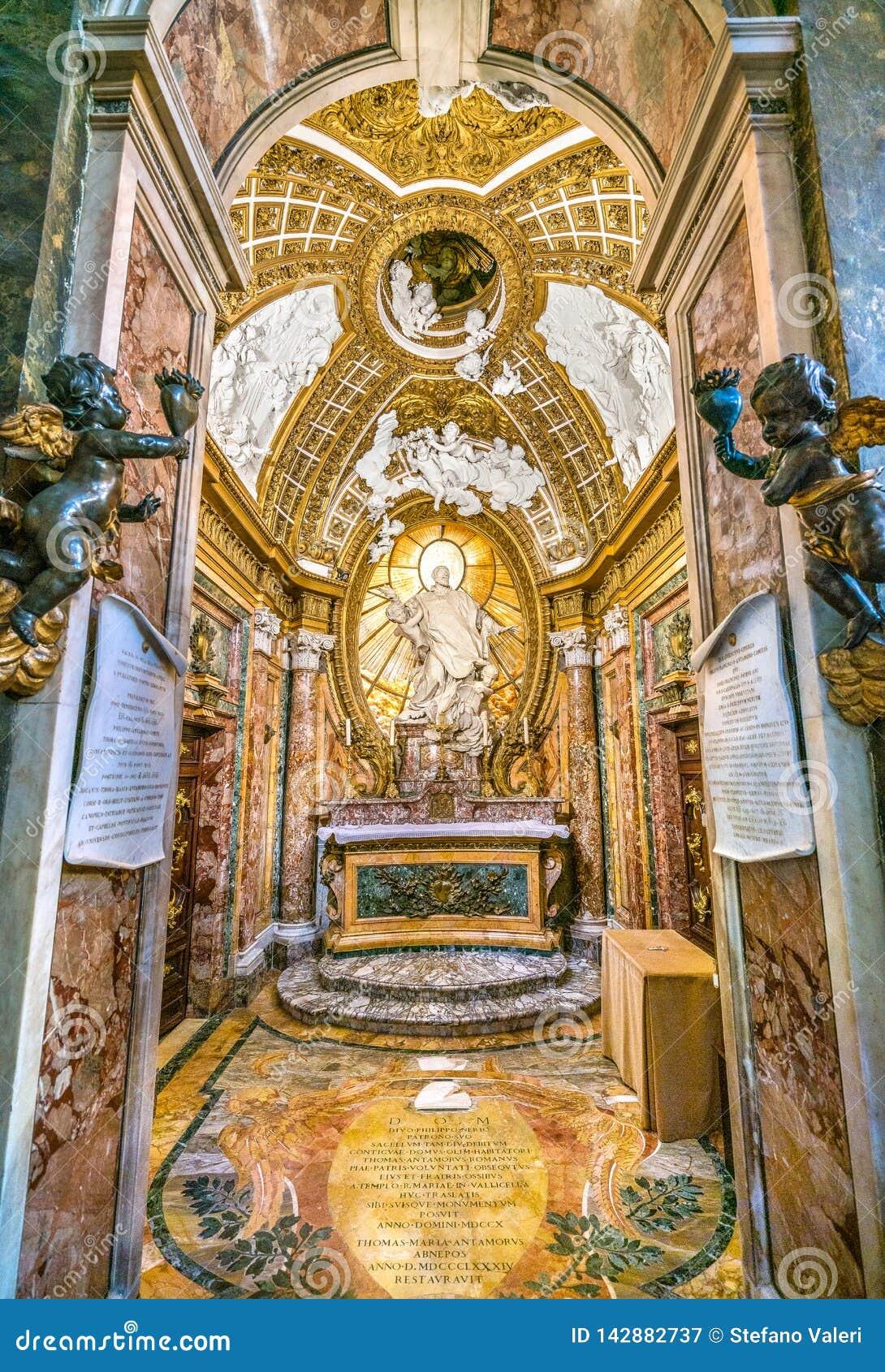Παρεκκλησι Antamoro ή παρεκκλησι της εκκλησίας Αγίου Philip Neri του della Carità SAN Girolamo στη Ρώμη, Ιταλία