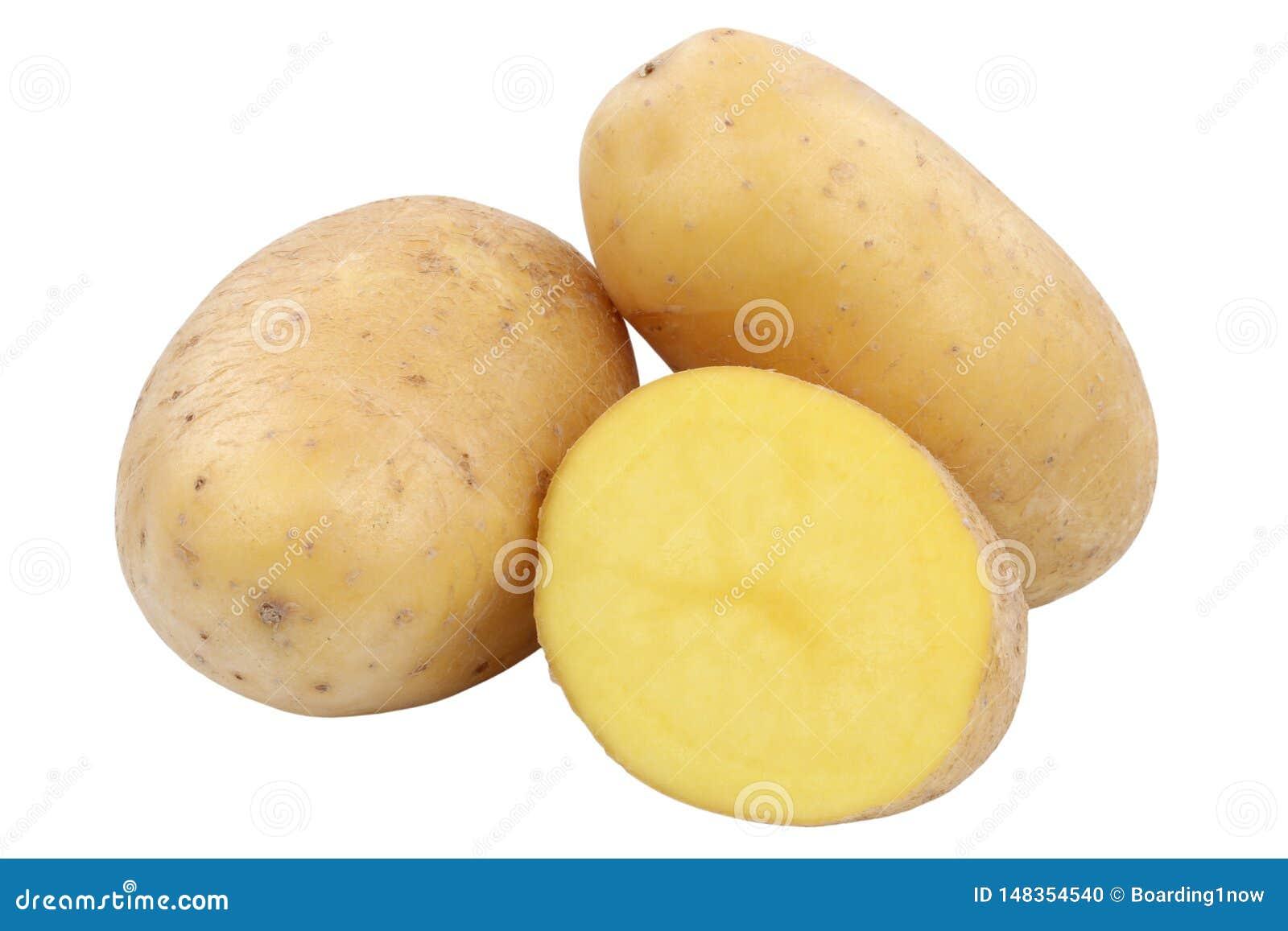 Πατατών λαχανικό τροφίμων που απομονώνεται φρέσκο
