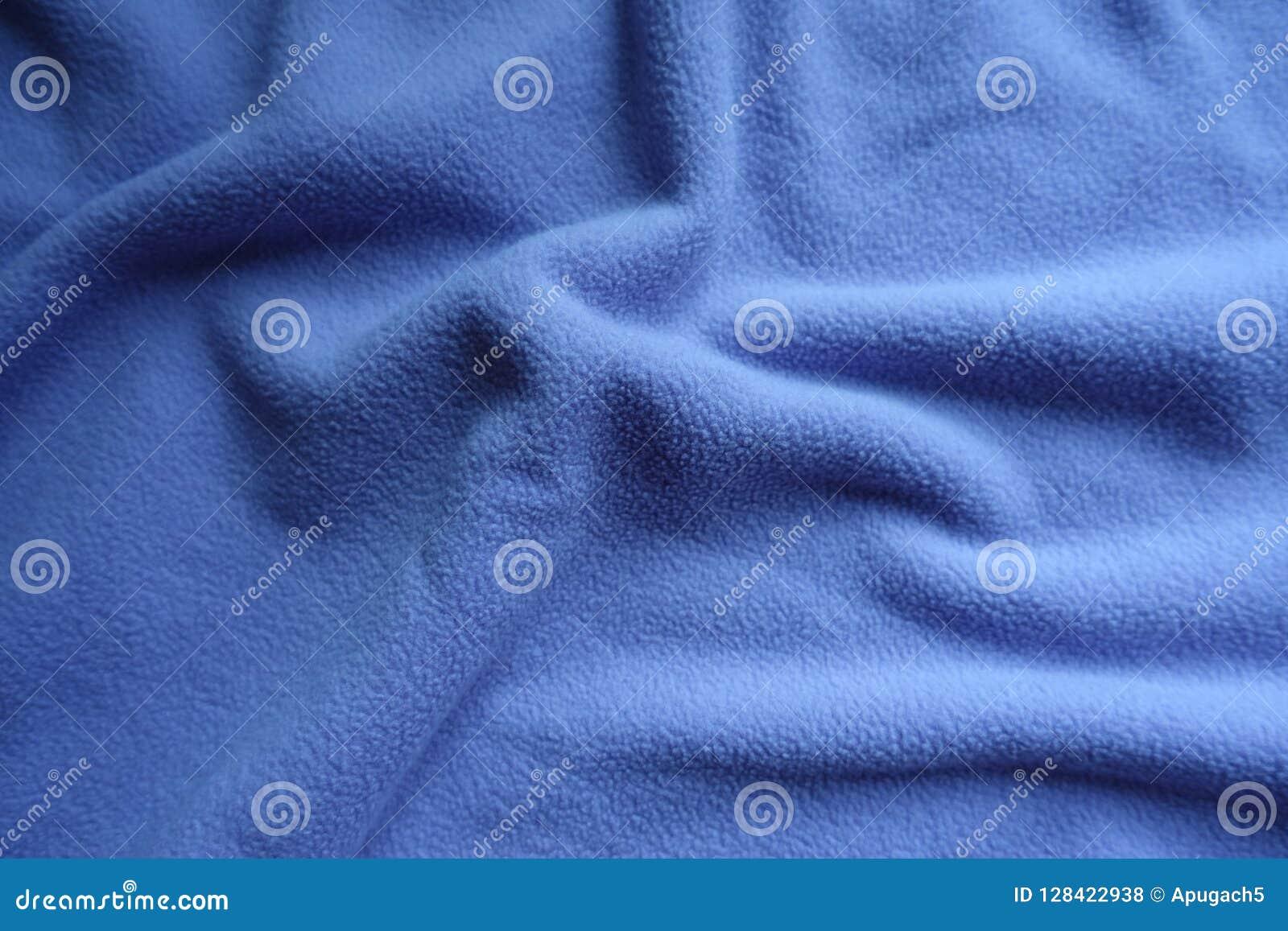 Παχύ μπλε δέρας στις μαλακές πτυχές