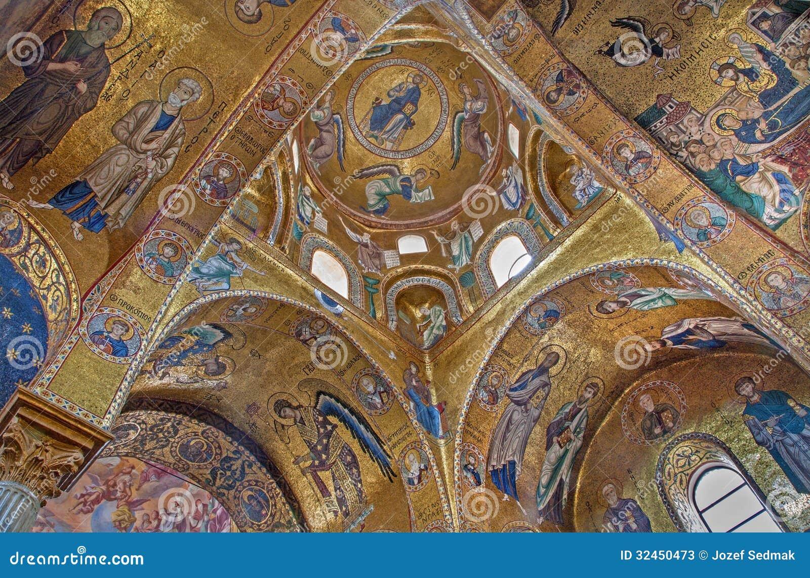 Παλέρμο - βυζαντινό μωσαϊκό από την εκκλησία της Σάντα Μαρία dell Ammiraglio ή Λα Martorana