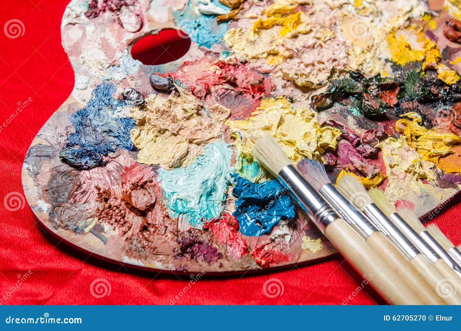 Παλέτα καλλιτεχνών στην έννοια τέχνης