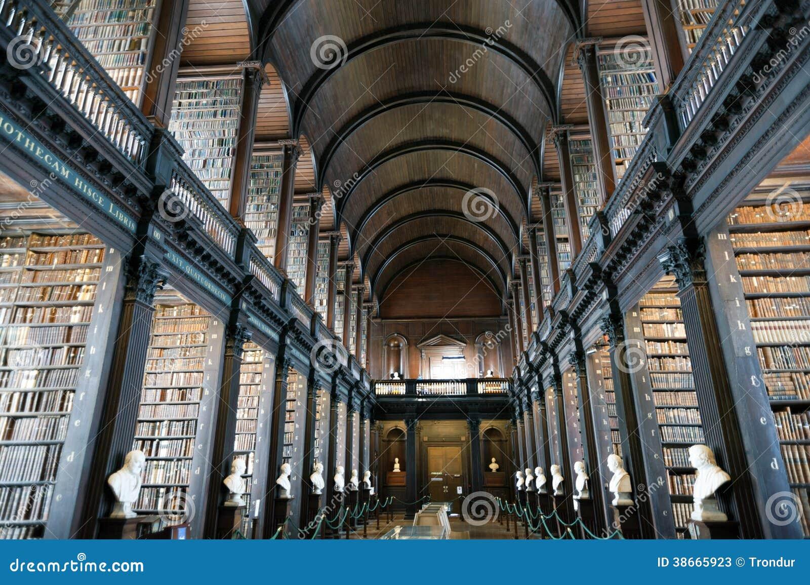 Παλαιά βιβλιοθήκη, κολλέγιο τριάδας, Δουβλίνο, Ιρλανδία