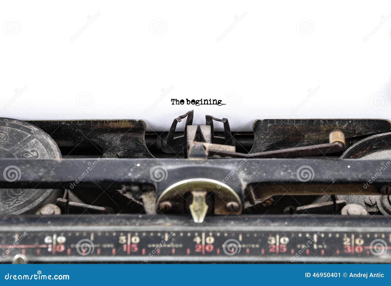 παλαιά γραφομηχανή