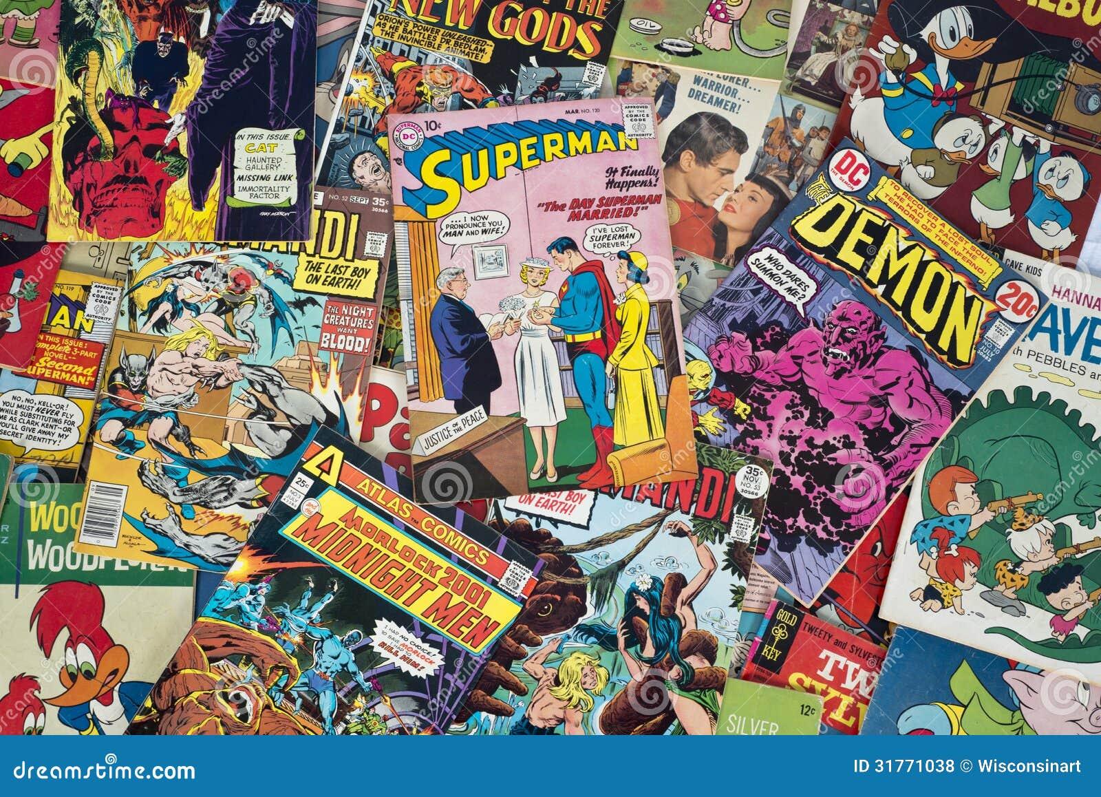 Παλαιά εκλεκτής ποιότητας κόμικς κινούμενων σχεδίων