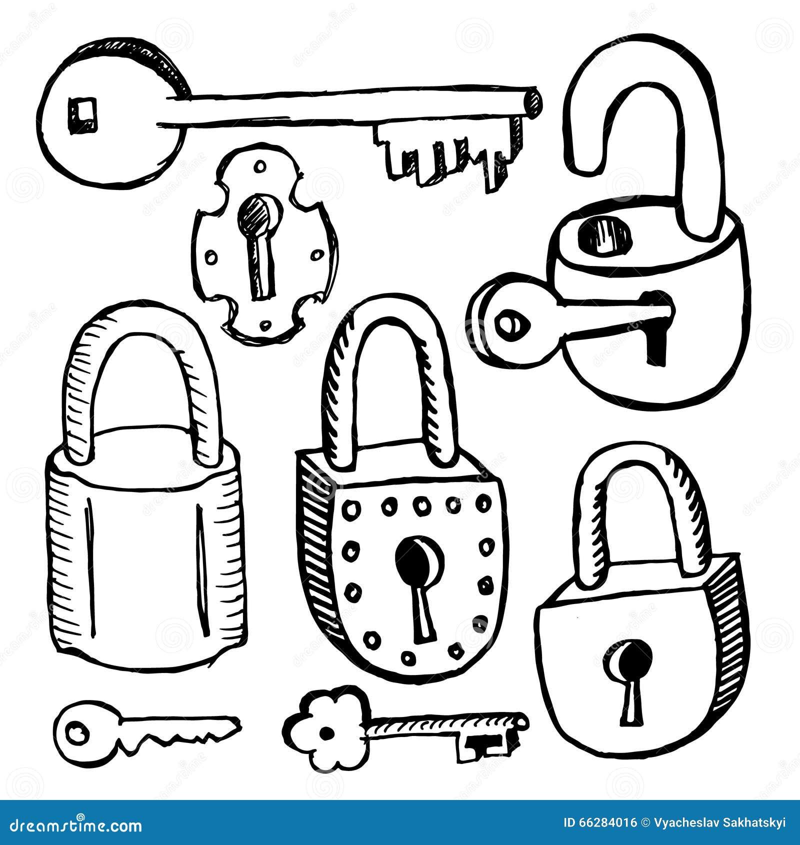 Παλαιά κλειδαριές και κλειδιά στο άσπρο υπόβαθρο