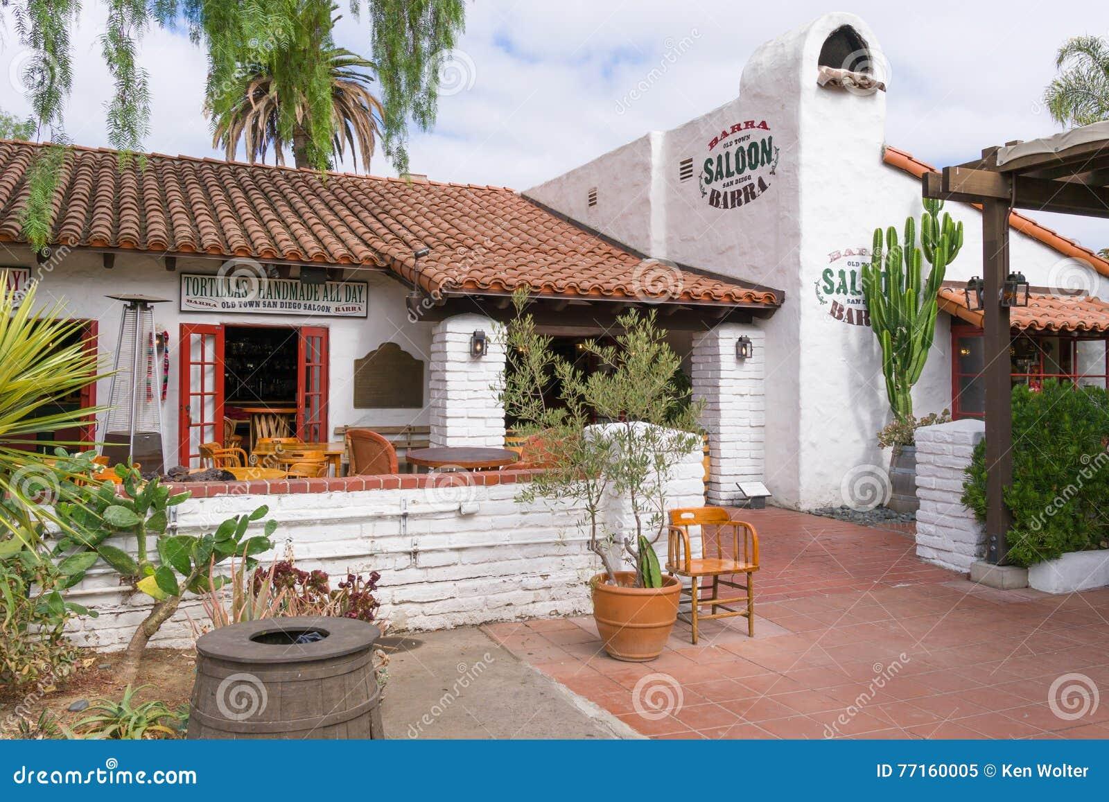 Παλαιά πόλης αίθουσα Barra στο παλαιό κρατικό ιστορικό πάρκο του πόλης Σαν Ντιέγκο