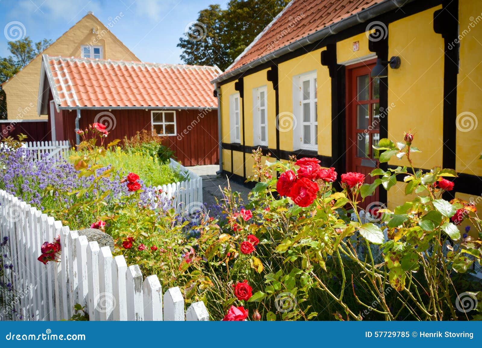 Παλαιά σπίτια σε Skagen, Δανία