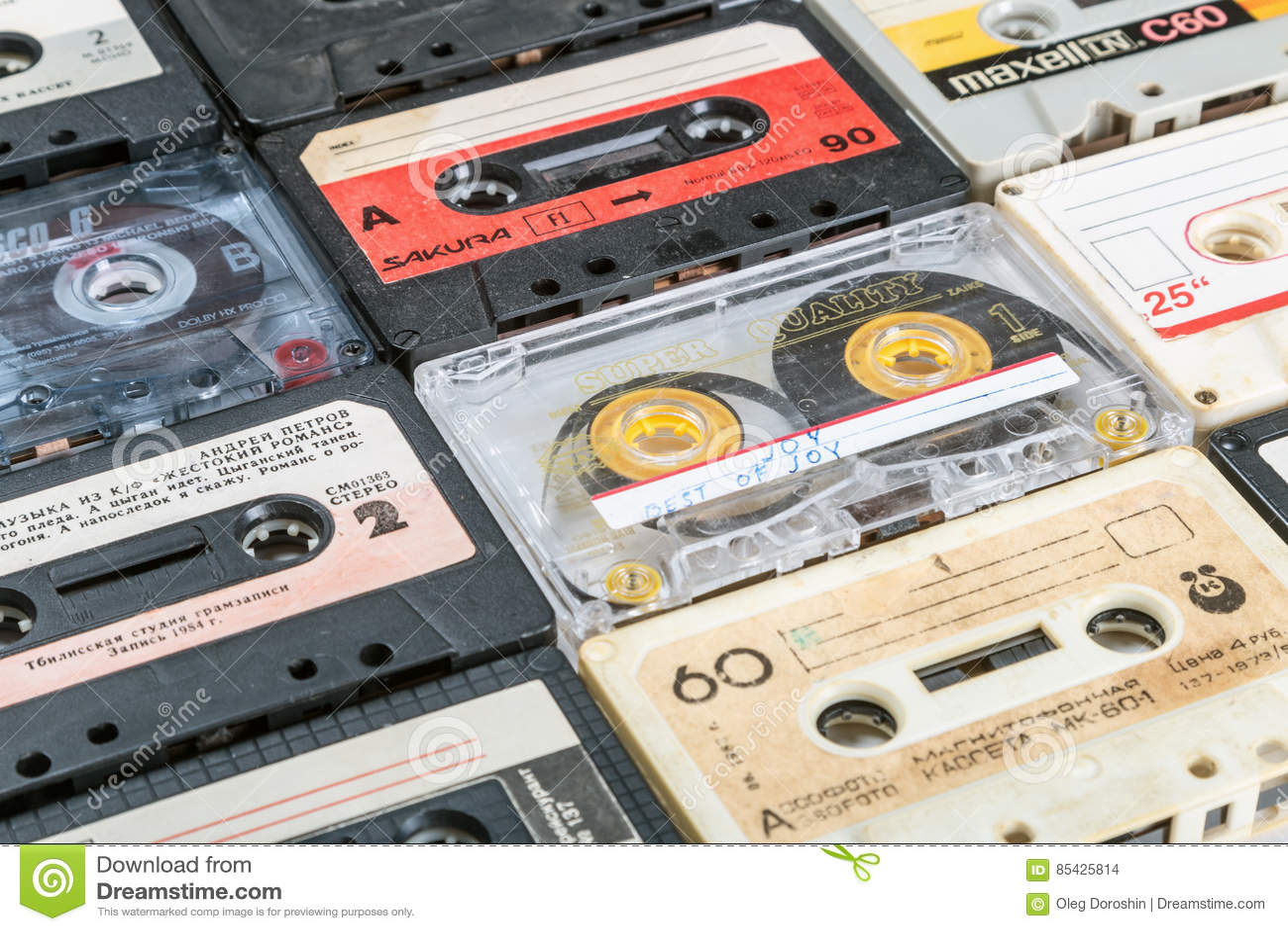 Παλαιές ταινίες κασετών πέρα από το υπόβαθρο