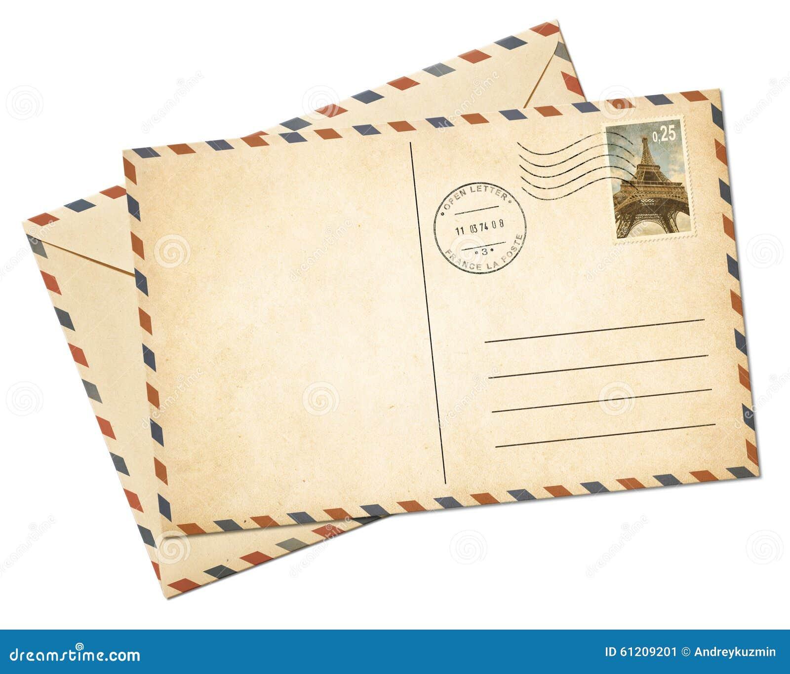 Παλαιοί κάρτα και φάκελος αεροπλάνων ισοτιμίας που απομονώνονται