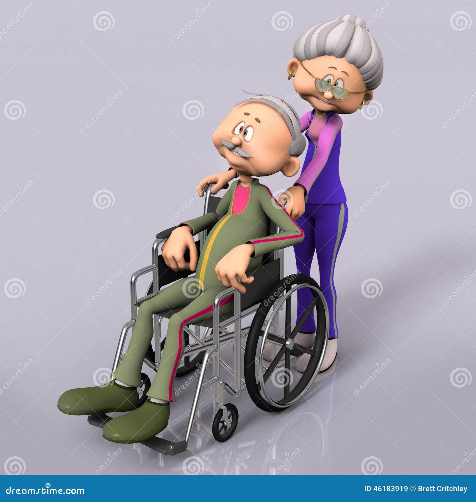 Παλαιός πρεσβύτερος ατόμων στην αναπηρική καρέκλα