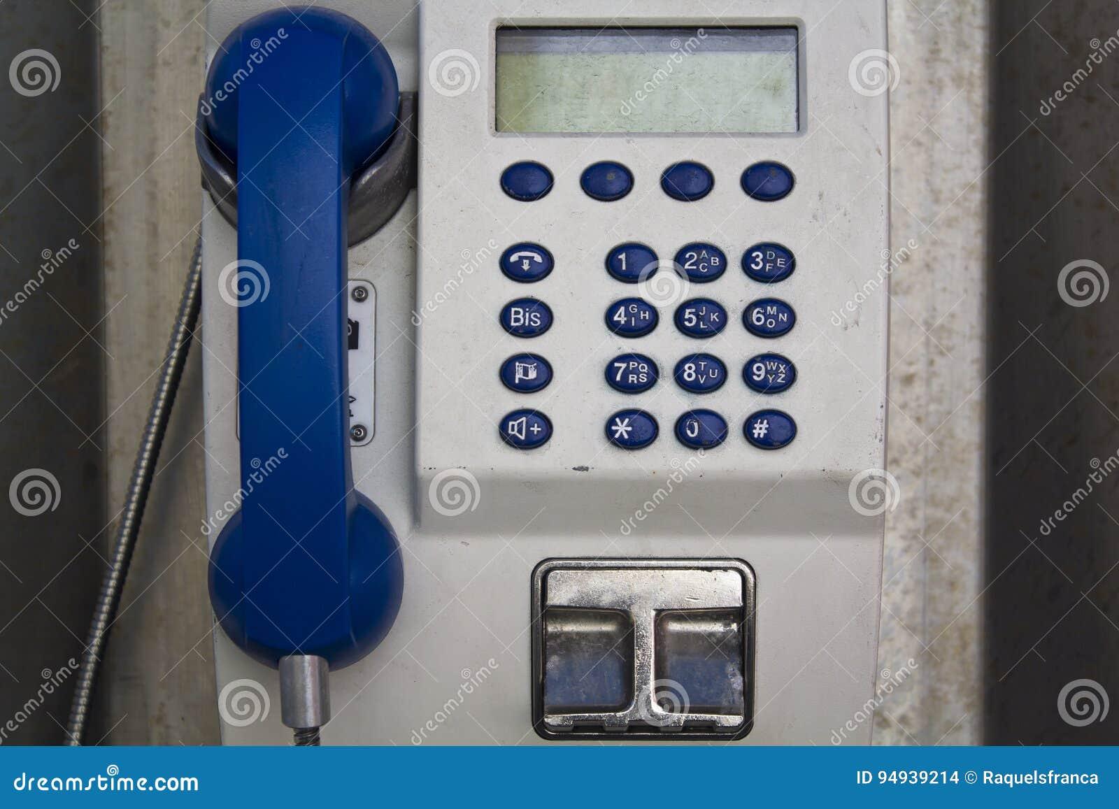 Παλαιός πληρώστε τον τηλεφωνικό θάλαμο