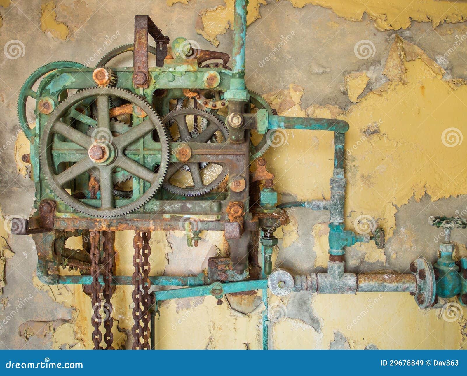 Παλαιός σκουριασμένος μηχανισμός