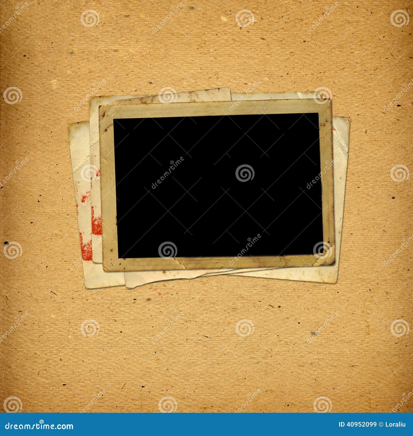 Παλαιό εκλεκτής ποιότητας λεύκωμα με τα πλαίσια εγγράφου