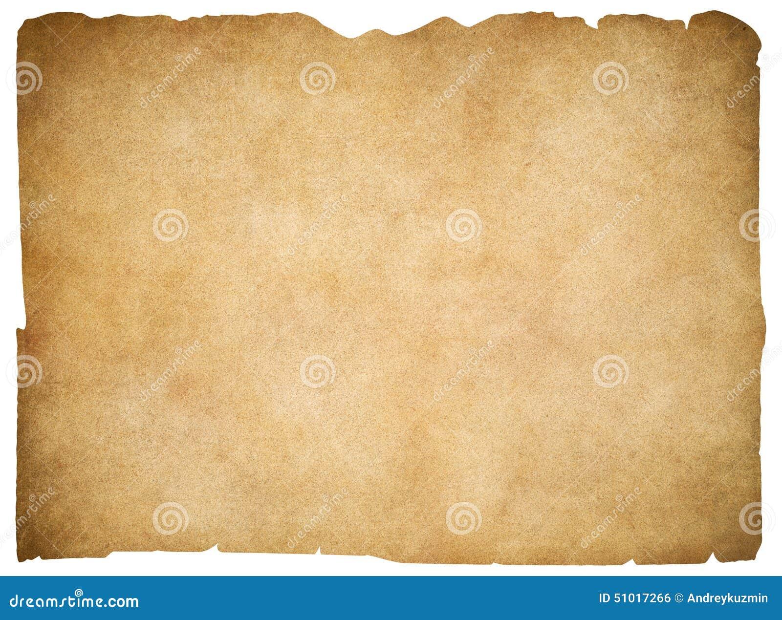 Παλαιό κενό περγαμηνή ή έγγραφο που απομονώνεται ψαλίδισμα