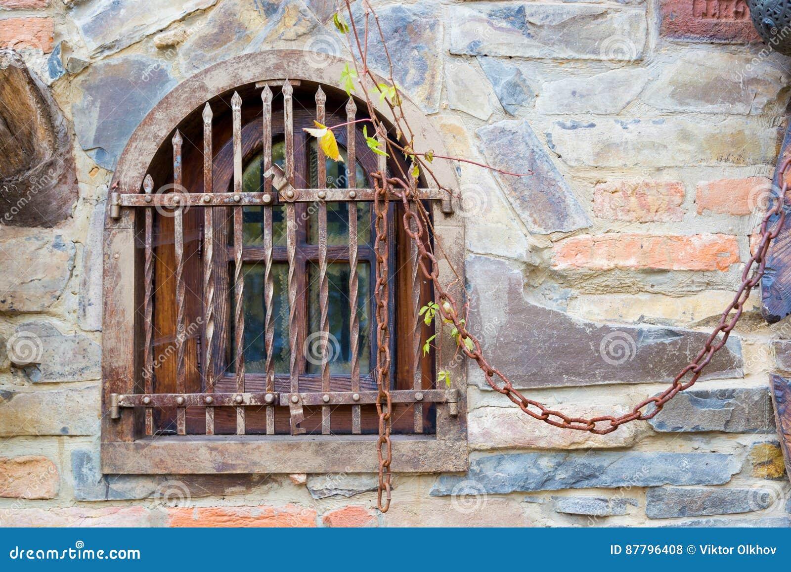 παλαιό παράθυρο ράβδων
