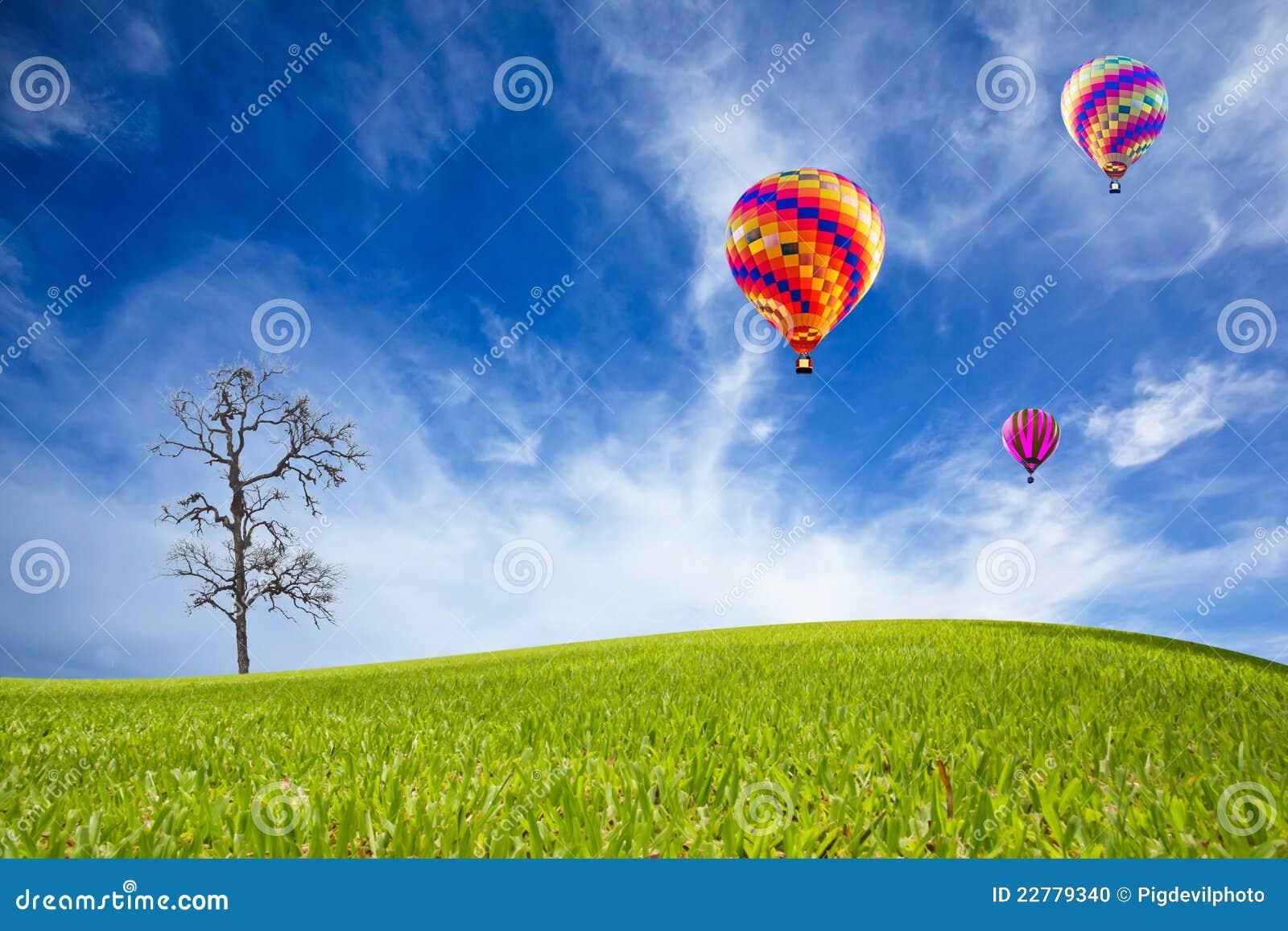 πεδίο μπαλονιών πράσινο
