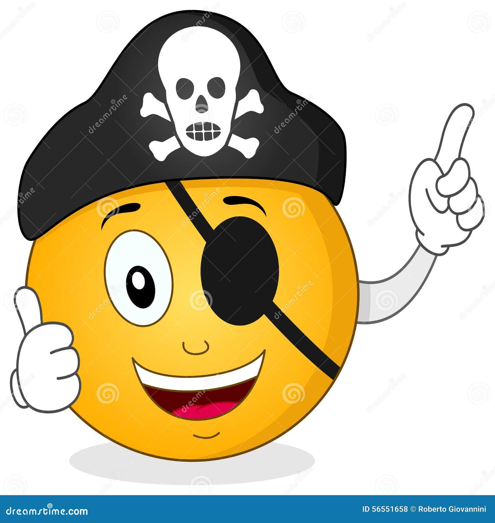 Download Πειρατής Smiley με το μπάλωμα ματιών & το καπέλο κρανίων Διανυσματική απεικόνιση - εικονογραφία από έκφραση, γραφικός: 56551658