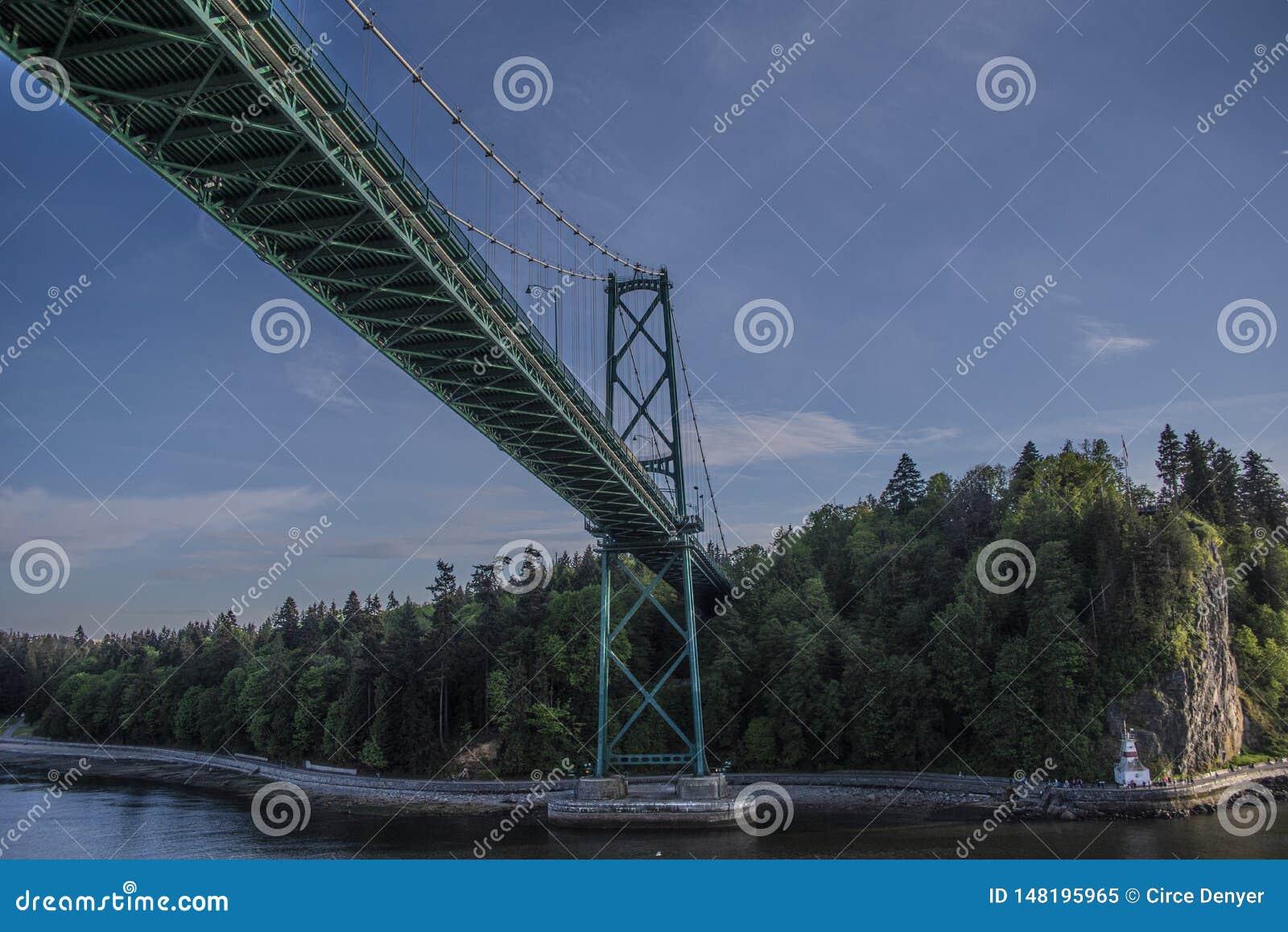 Περάσματα κρουαζιερόπλοιων κάτω από τη γέφυρα πυλών λιονταριών στο ιστορικό πέρασμα