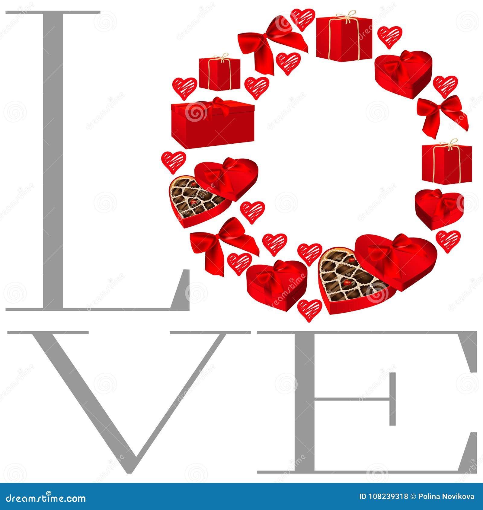 Περίκομψο στρογγυλό πλαίσιο για το σχέδιο καρτών βαλεντίνων Το πλαίσιο από τα κιβώτια, τις καρδιές, τα τόξα και την καρδιά δώρων