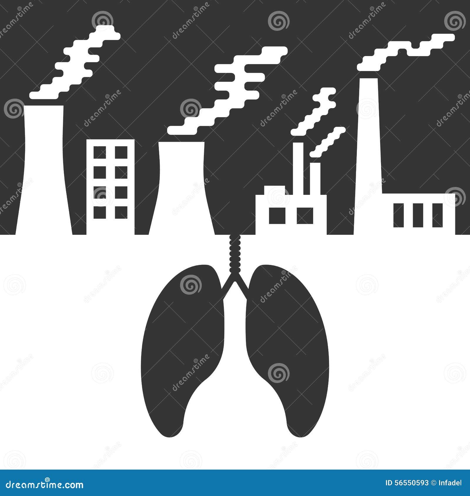 Download Περιβαλλοντολογικά θέματα με τους πνεύμονες και την ατμοσφαιρική ρύπανση Διανυσματική απεικόνιση - εικονογραφία από απεικόνιση, ρύπανση: 56550593