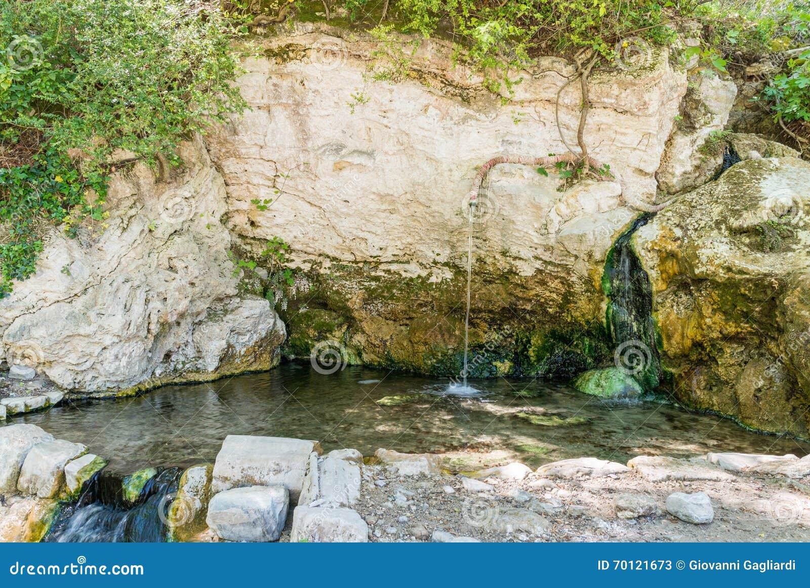 Περιοχή της Τοσκάνης, της Ιταλίας Bagni SAN Filippo - φυσική ομορφιά που γίνεται το φ