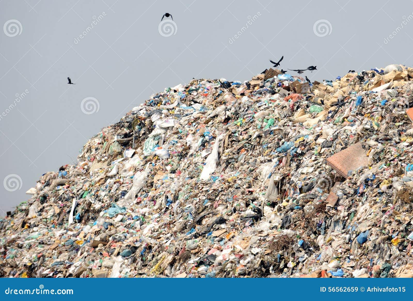 Download Περιοχή υλικών οδόστρωσης στοκ εικόνα. εικόνα από landfill - 56562659