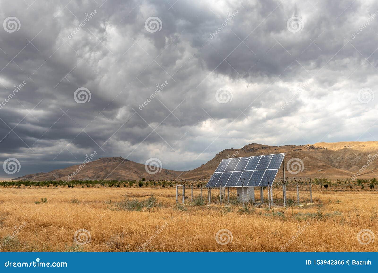 Περιφραγμένο ηλιακό πλαίσιο στον τομέα