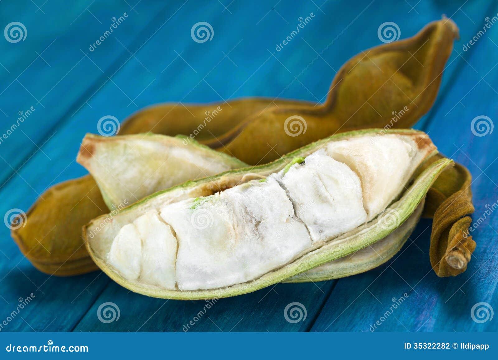 Περουβιανά φρούτα αποκαλούμενα Pacay