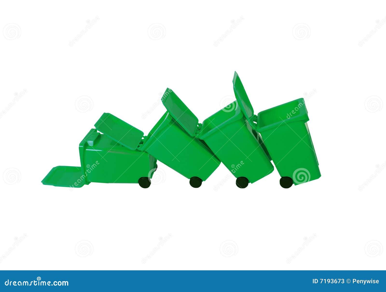 πεσμένη δοχεία ανακύκλωσ&